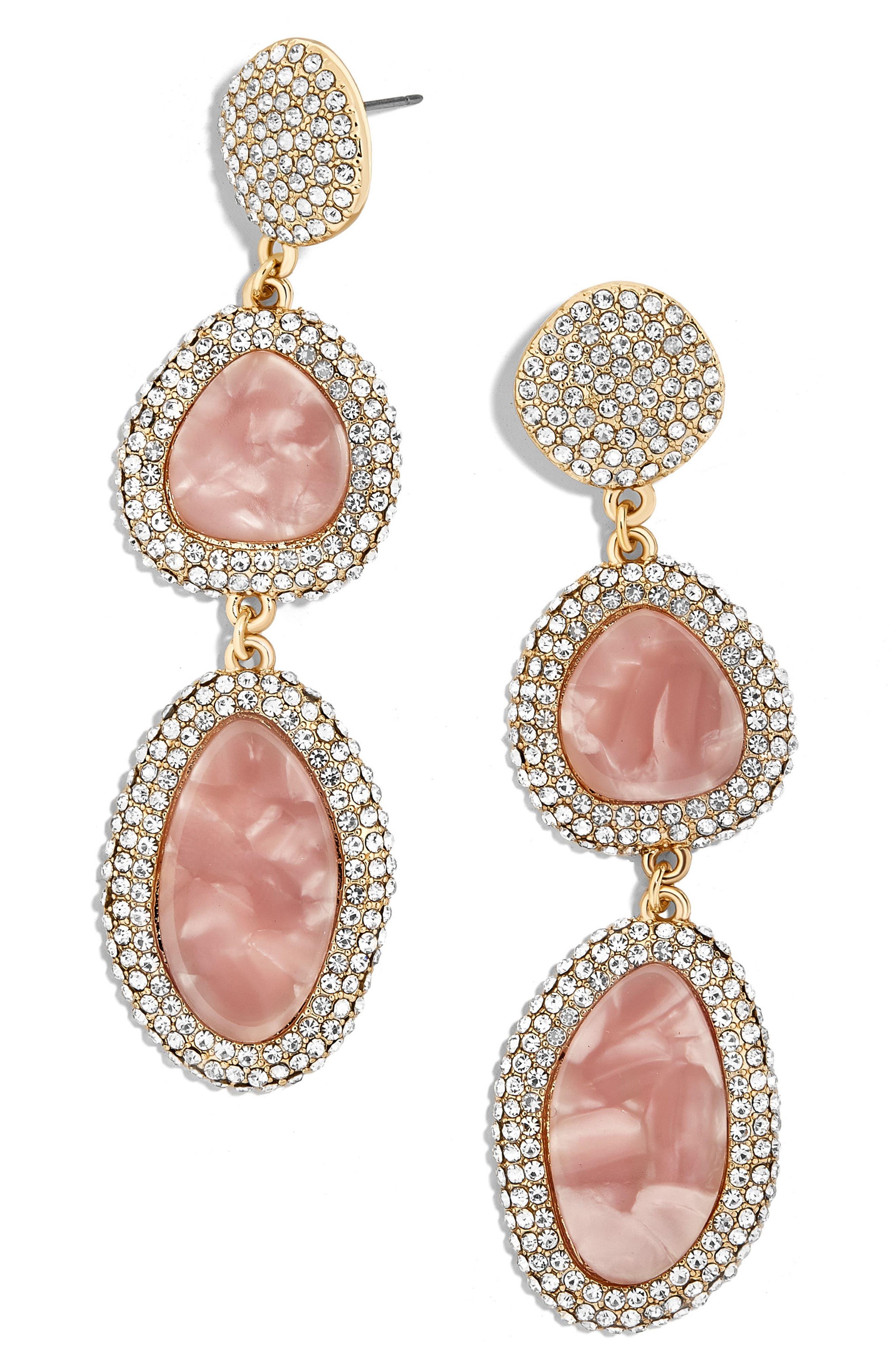 Enity Drop Earrings,                         Main,                         color, Blush