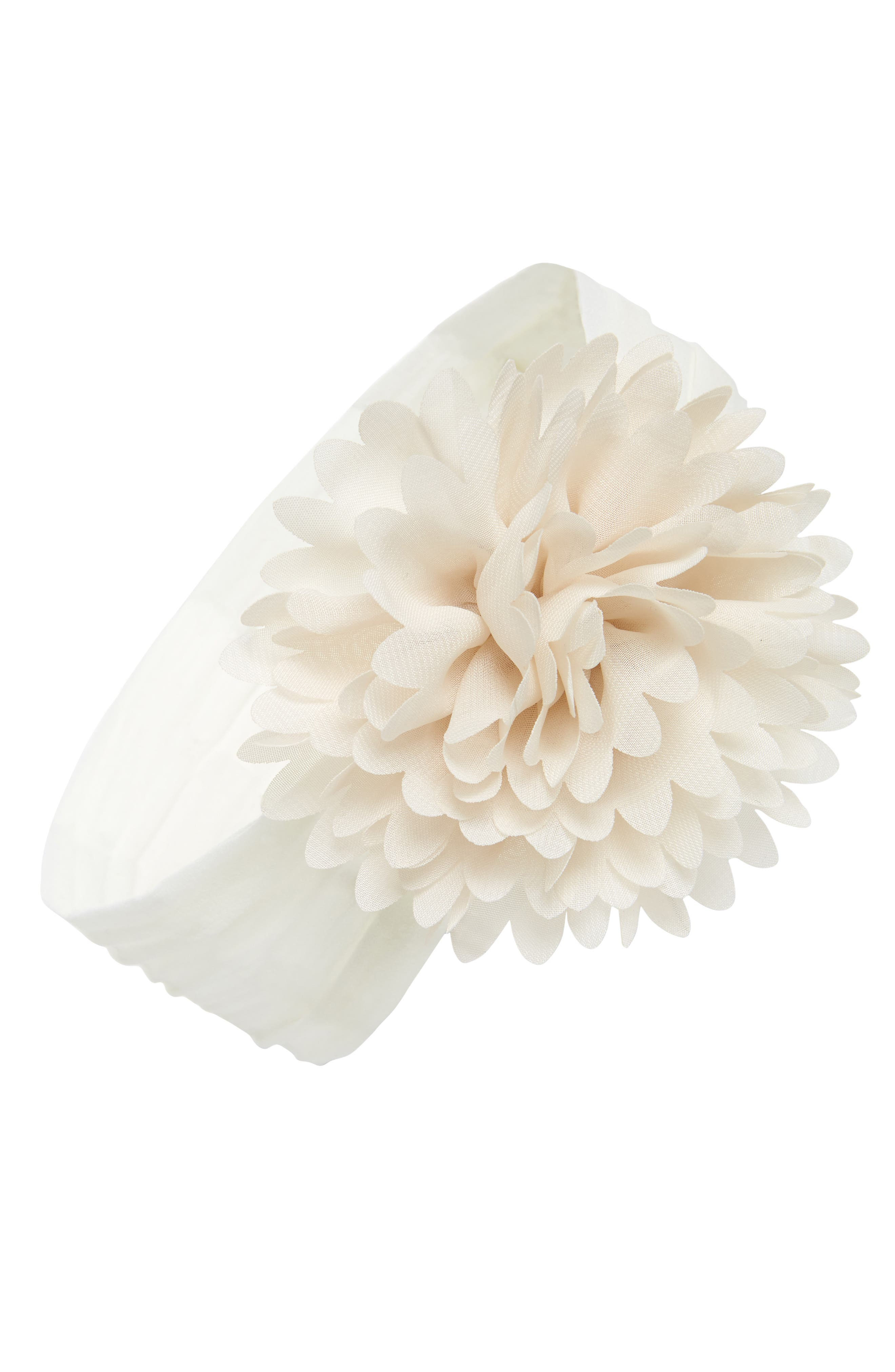 Flower Headband,                             Main thumbnail 1, color,                             Ivory