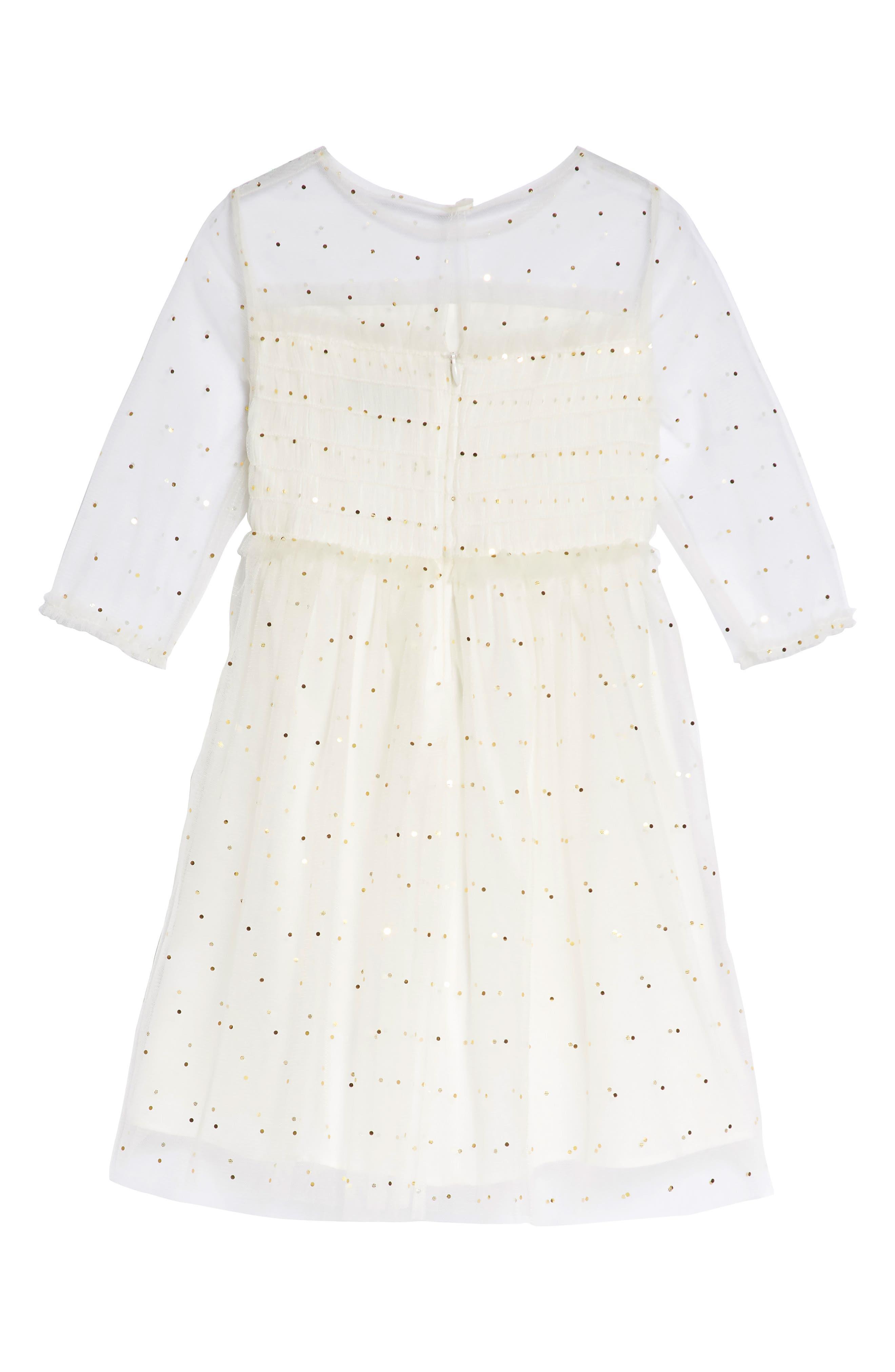 Laura Dress,                             Alternate thumbnail 2, color,                             Cream