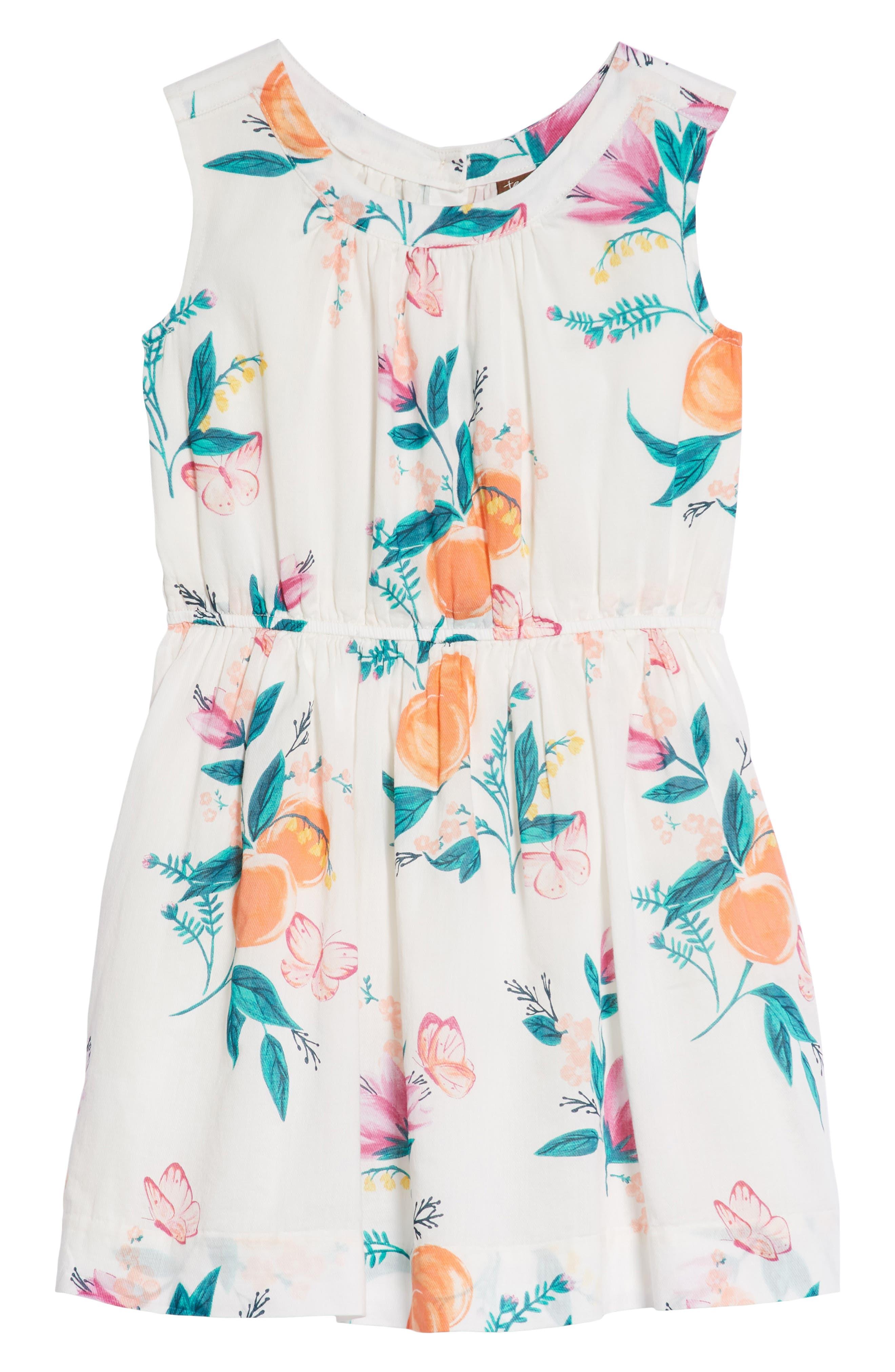 Peach Flower Dress,                             Main thumbnail 1, color,                             Georgia Peach