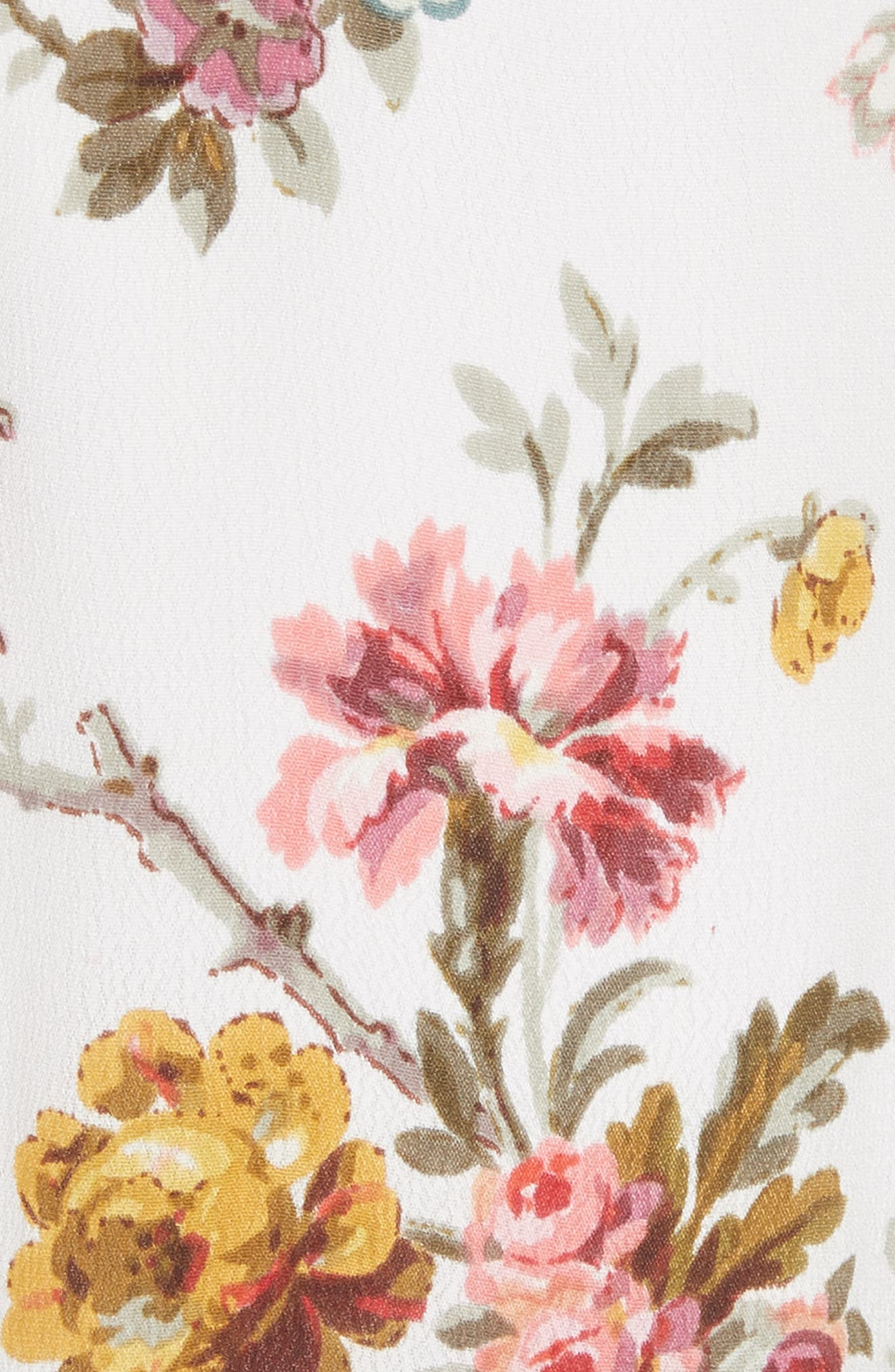 Rainbow Rose Wrap Dress,                             Alternate thumbnail 5, color,                             Ivory