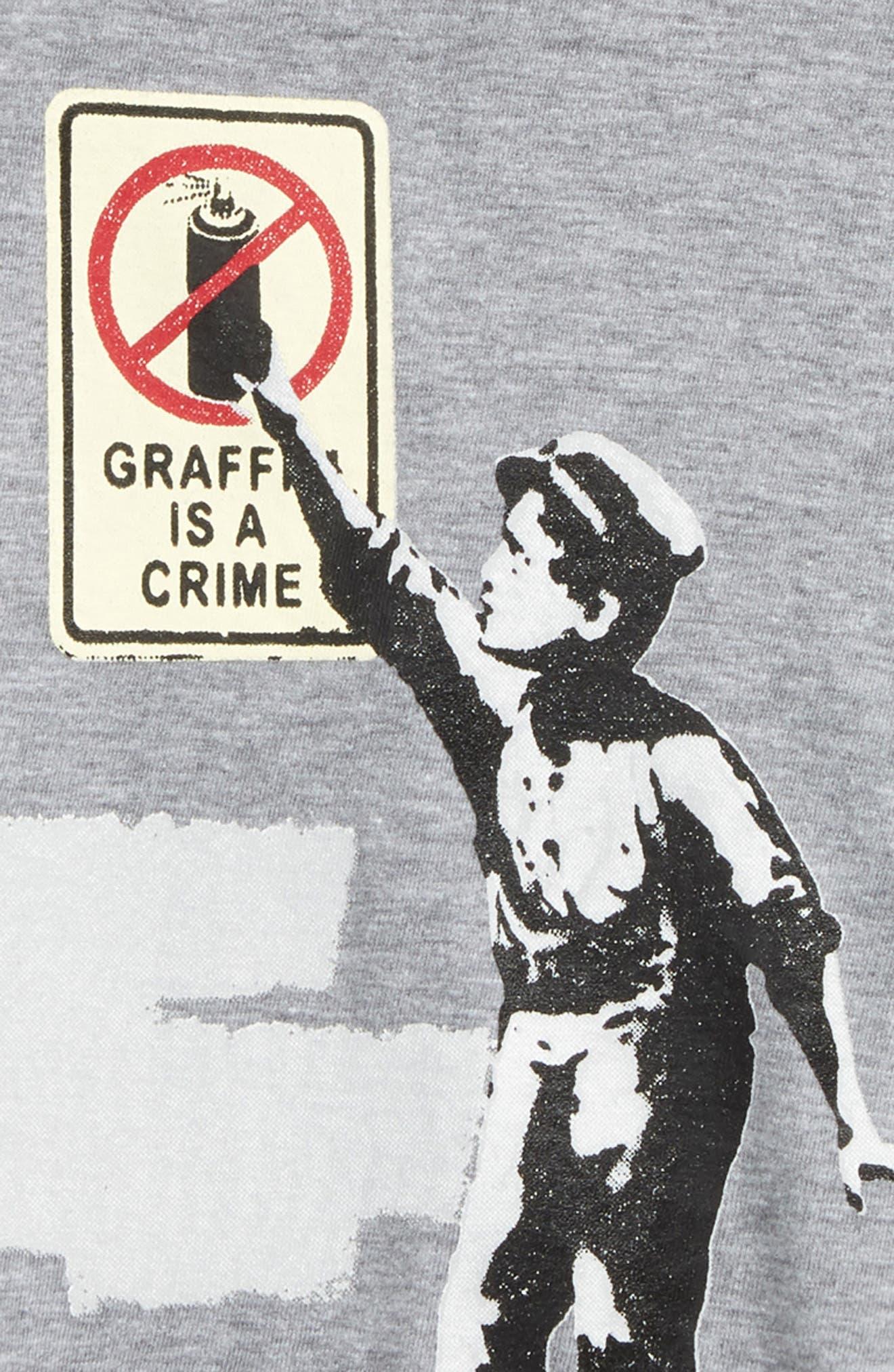 Maffiti Graphic T-Shirt,                             Alternate thumbnail 2, color,                             Grey