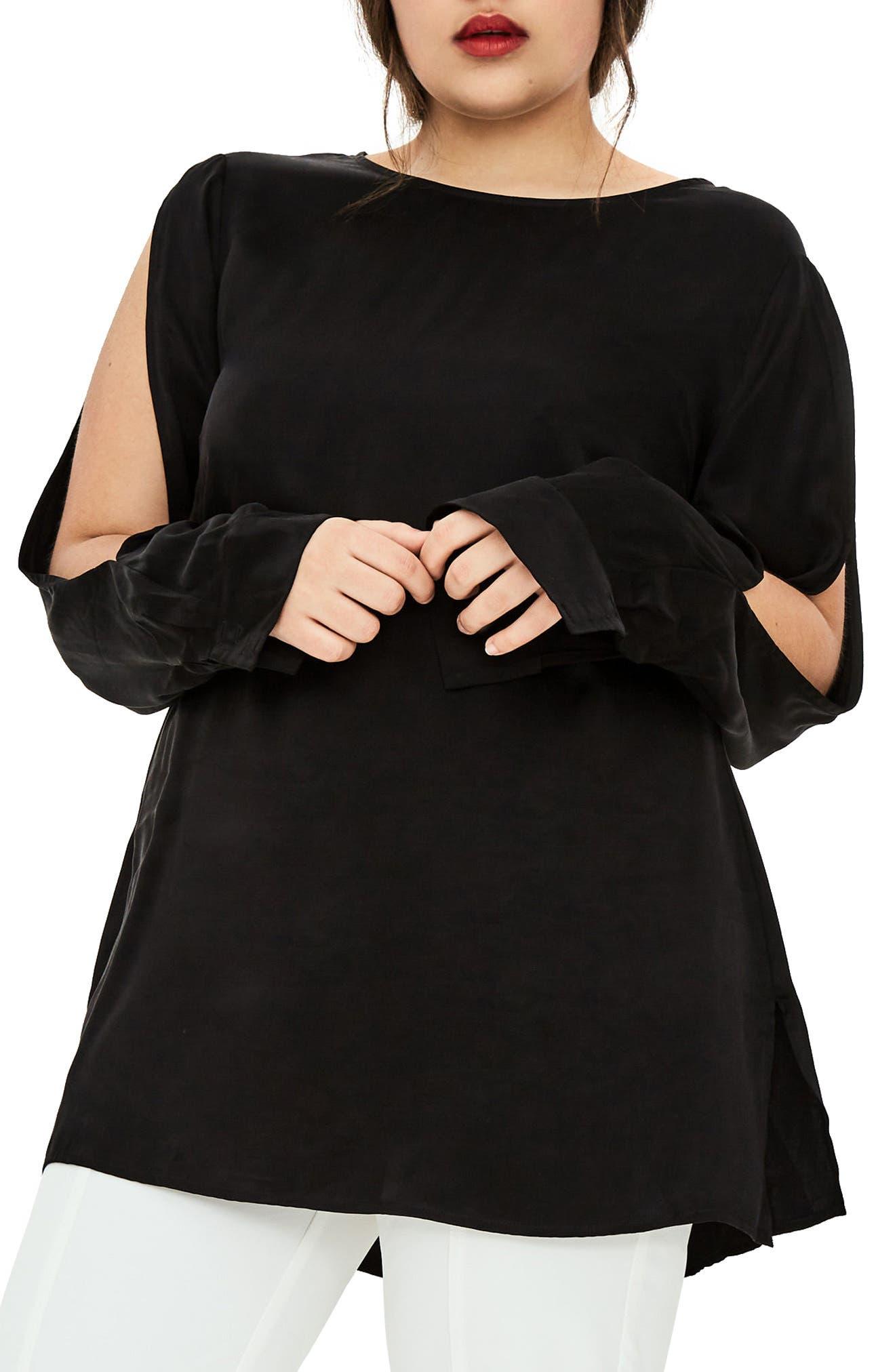 The Andras Silk Blouse,                             Main thumbnail 1, color,                             Black