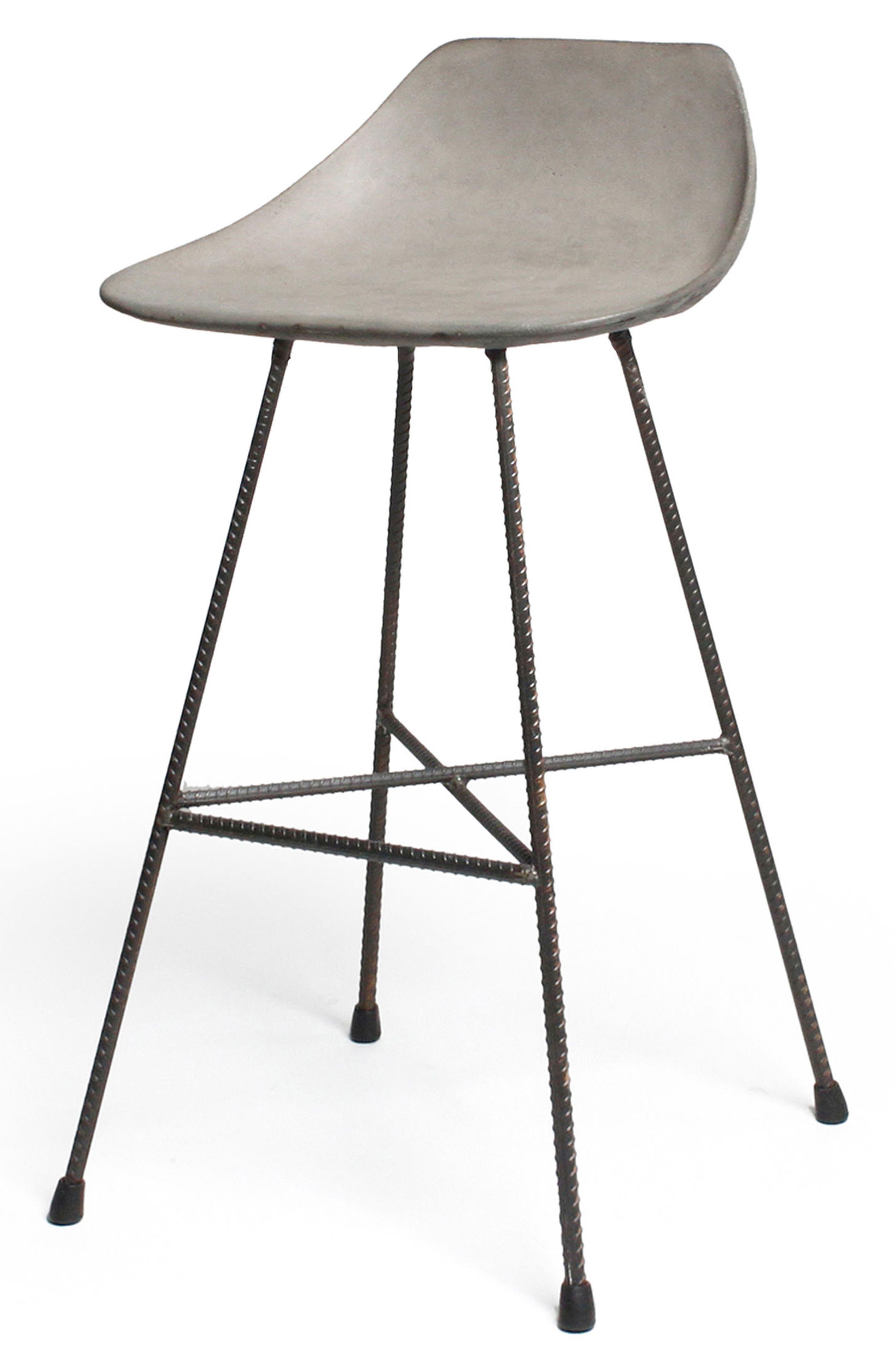 Lyon Béton Hauteville Counter Chair,                             Alternate thumbnail 9, color,                             Cement