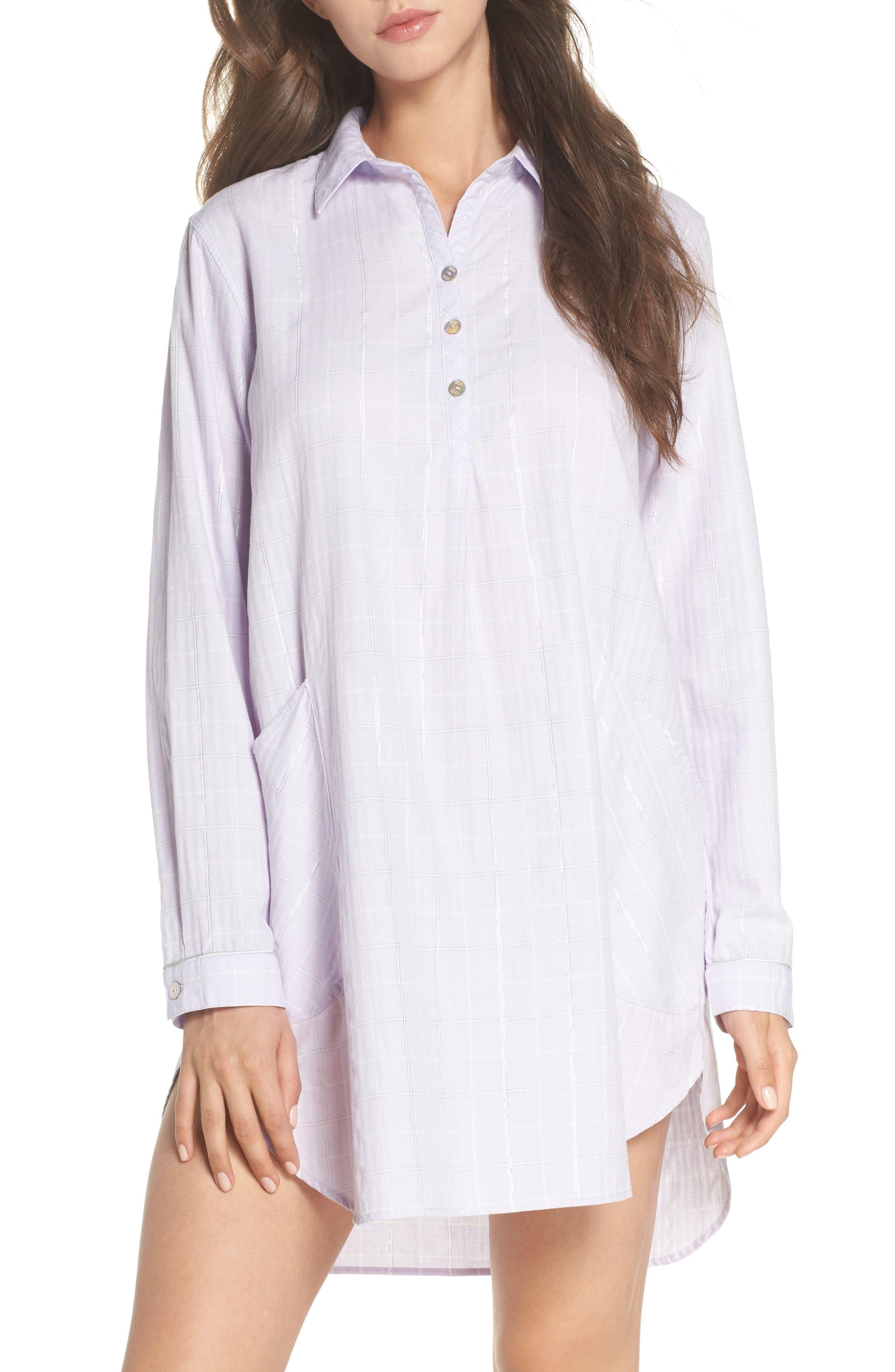 Gabri Sleep Shirt,                         Main,                         color, Lavender Fog