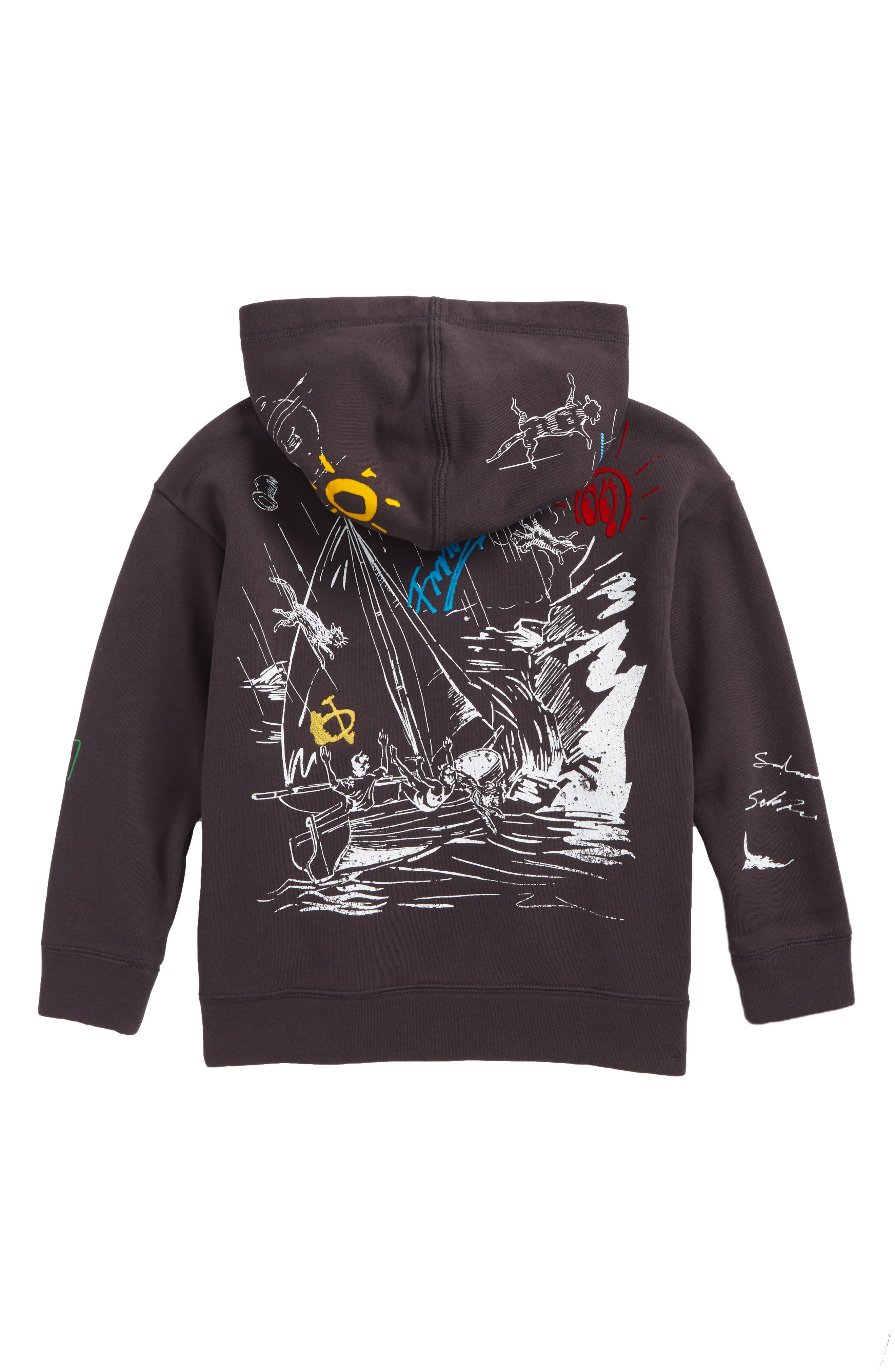 Sailing Graphic Hoodie,                             Alternate thumbnail 2, color,                             Charcoal