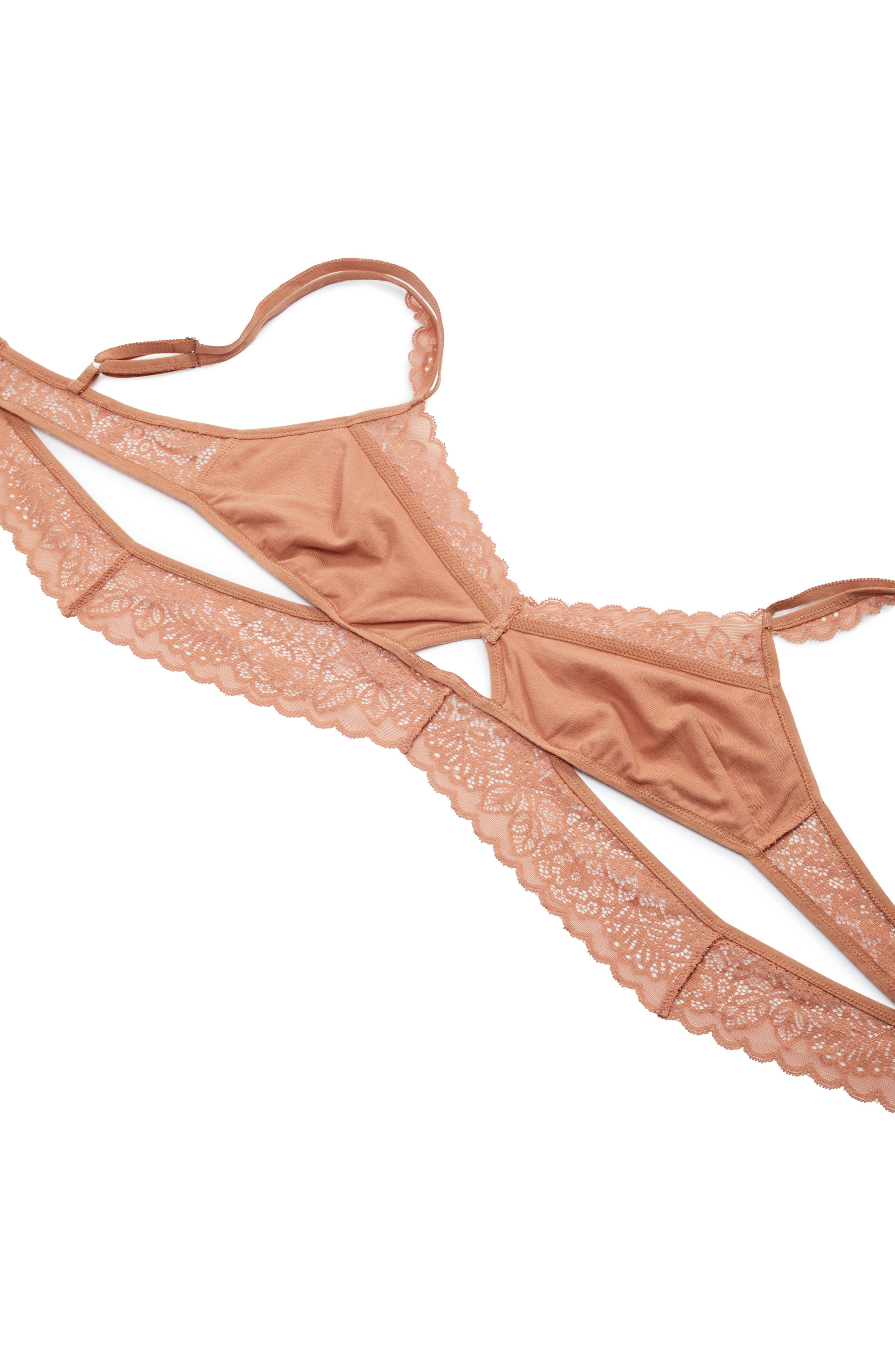 Thistle & Spire Marcy Keyhole Bralette,                             Alternate thumbnail 10, color,                             Terracotta