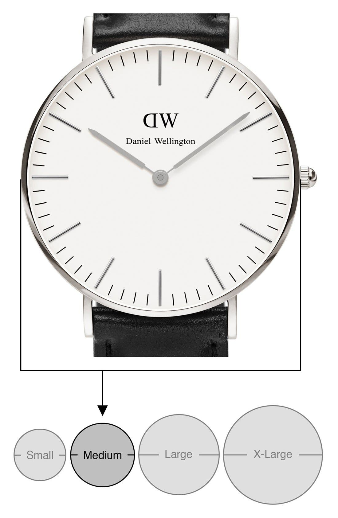 Alternate Image 2  - Daniel Wellington 'Classic Sheffield' Leather Strap Watch, 36mm