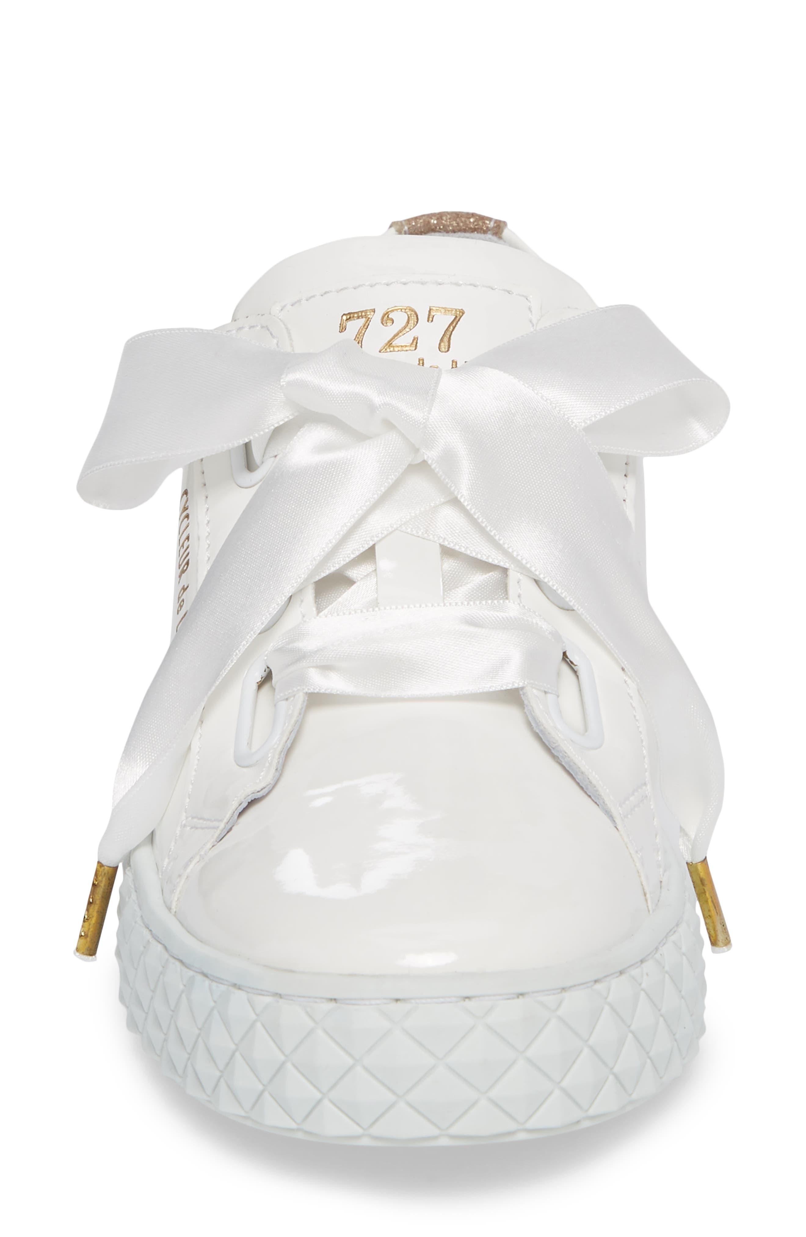 Acton Sneaker,                             Alternate thumbnail 4, color,                             White Patent