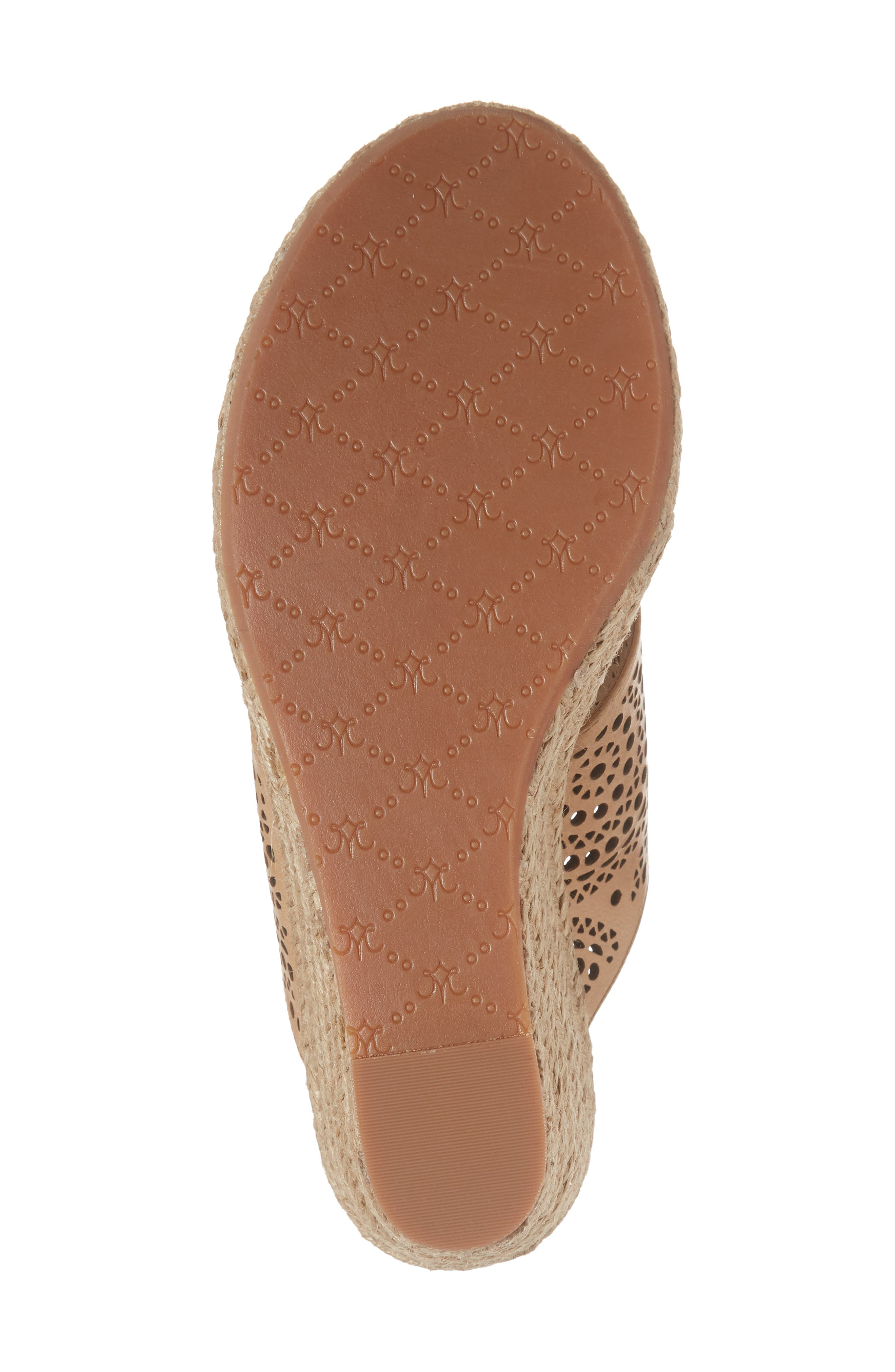 Gina Wedge Sandal,                             Alternate thumbnail 6, color,                             Tan Leather