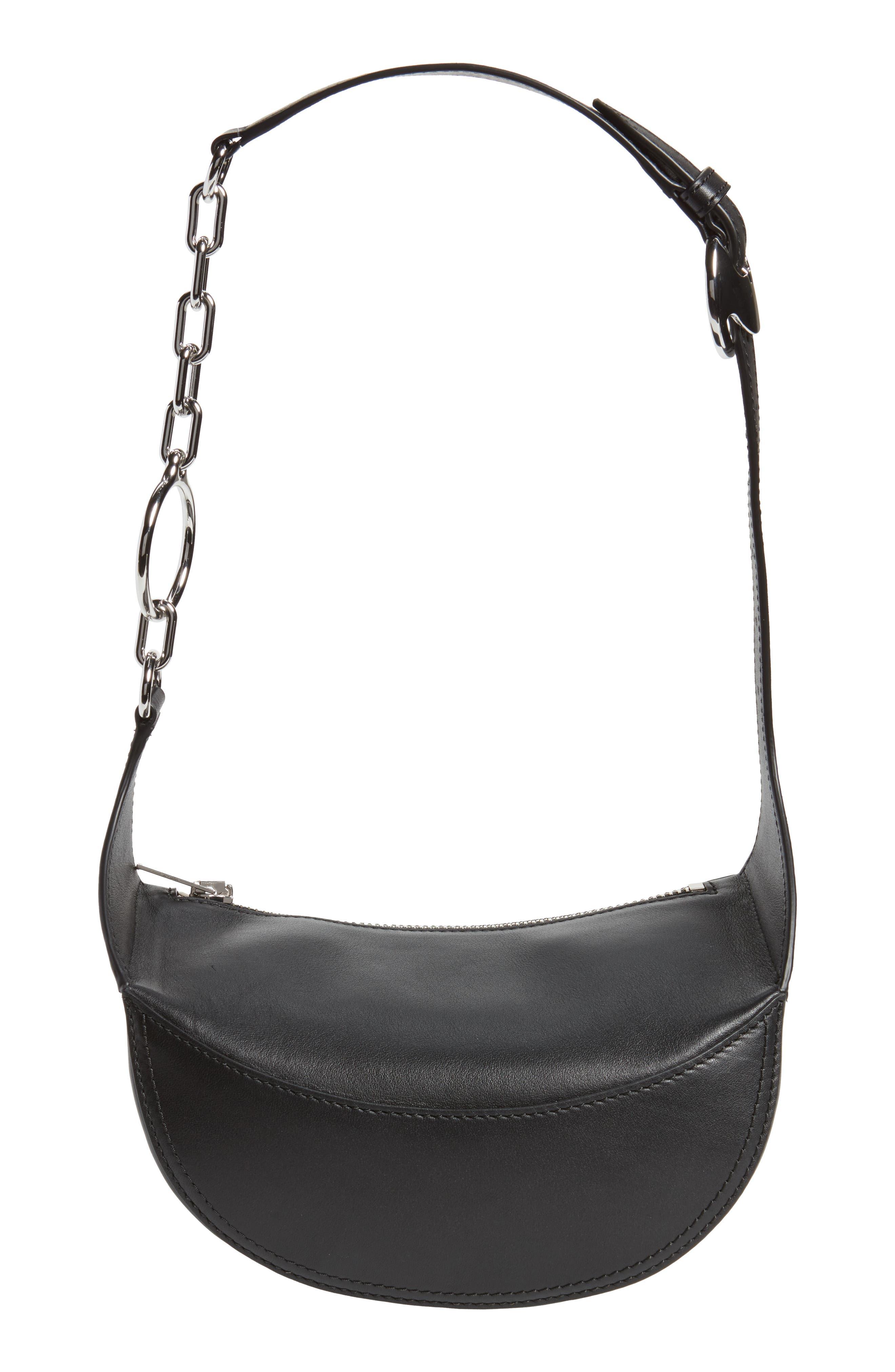 Leather Fanny Pack,                             Alternate thumbnail 7, color,                             Black