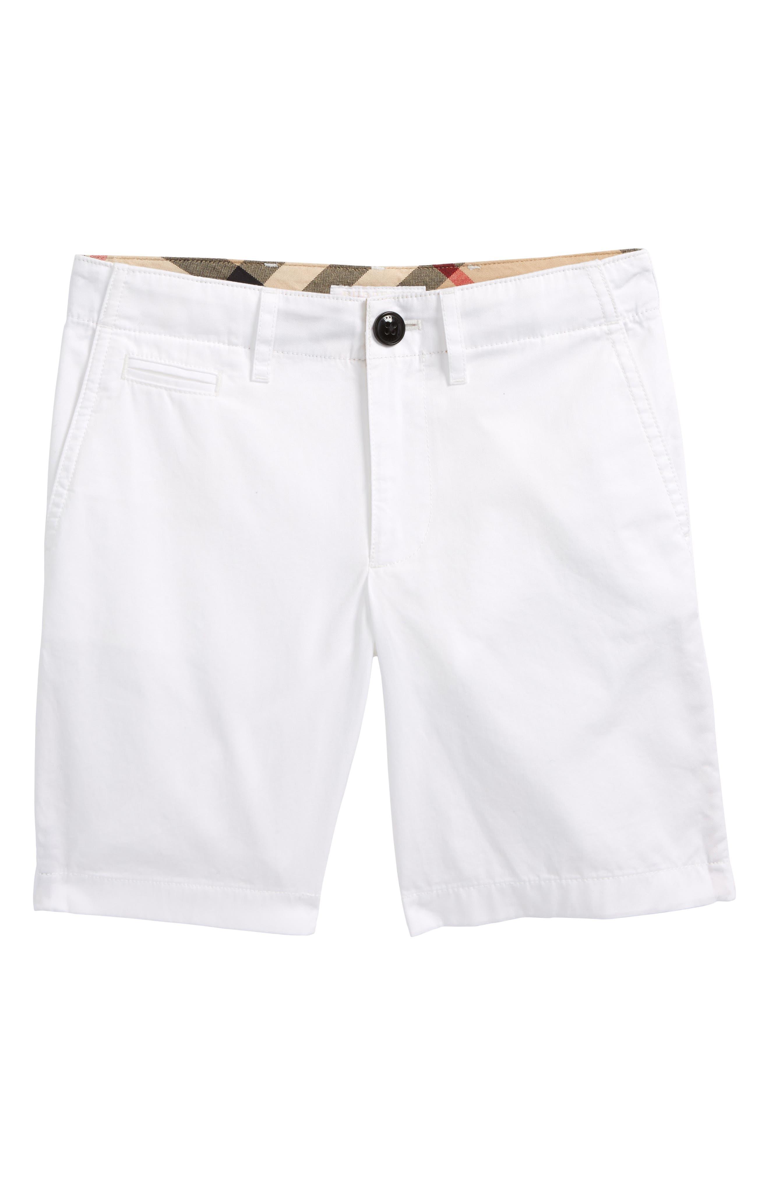 Tristen Cotton Twill Shorts,                         Main,                         color, White