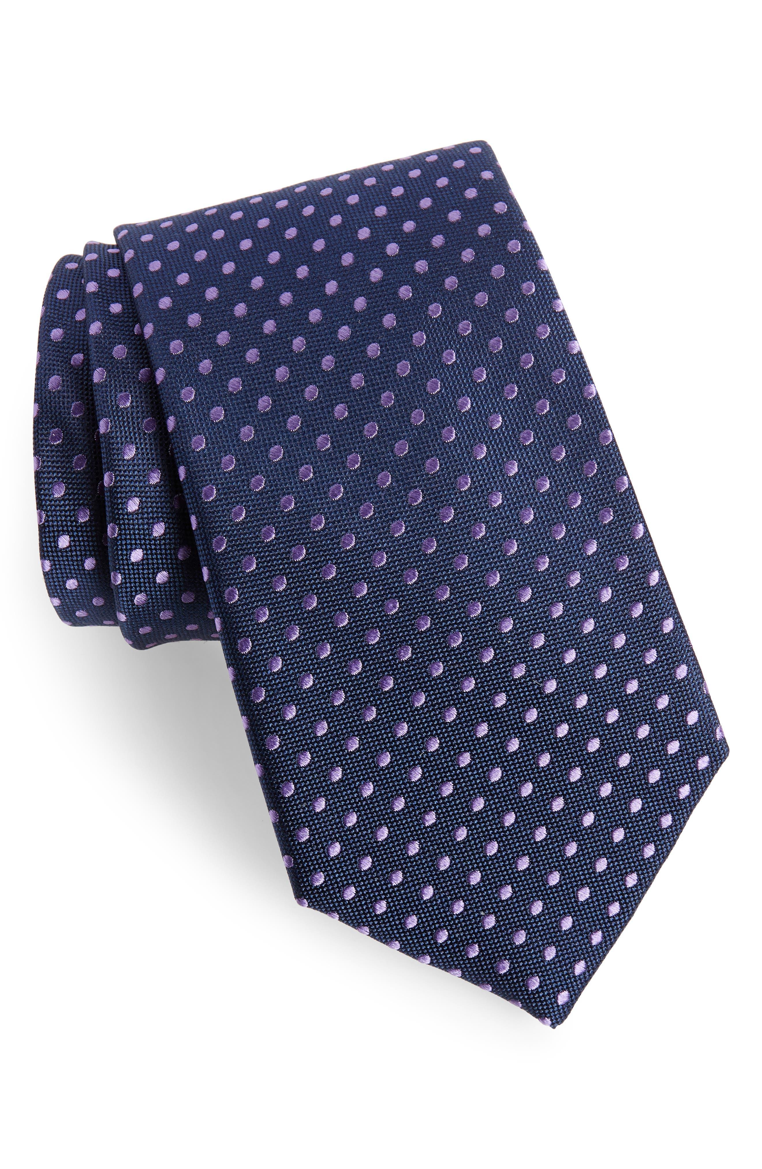 Norton Dot Silk Tie,                         Main,                         color, Delft