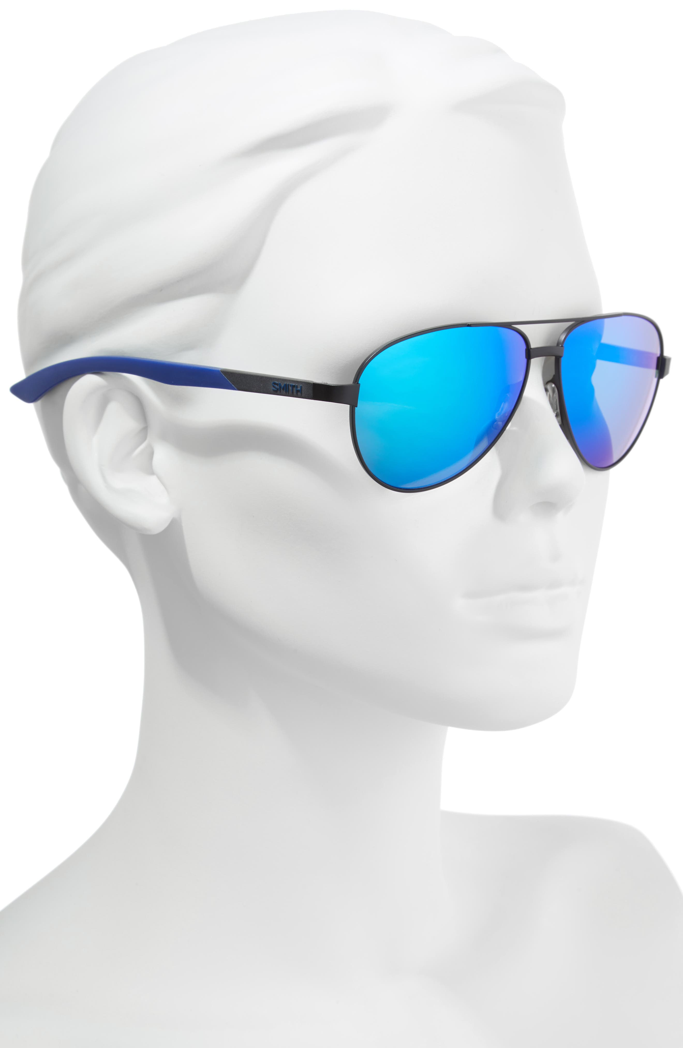 Salute 59mm Aviator Sunglasses,                             Alternate thumbnail 2, color,                             Matte Black