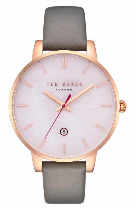 bea8e4202ea8 Ted Baker London Kate Leather Strap Watch