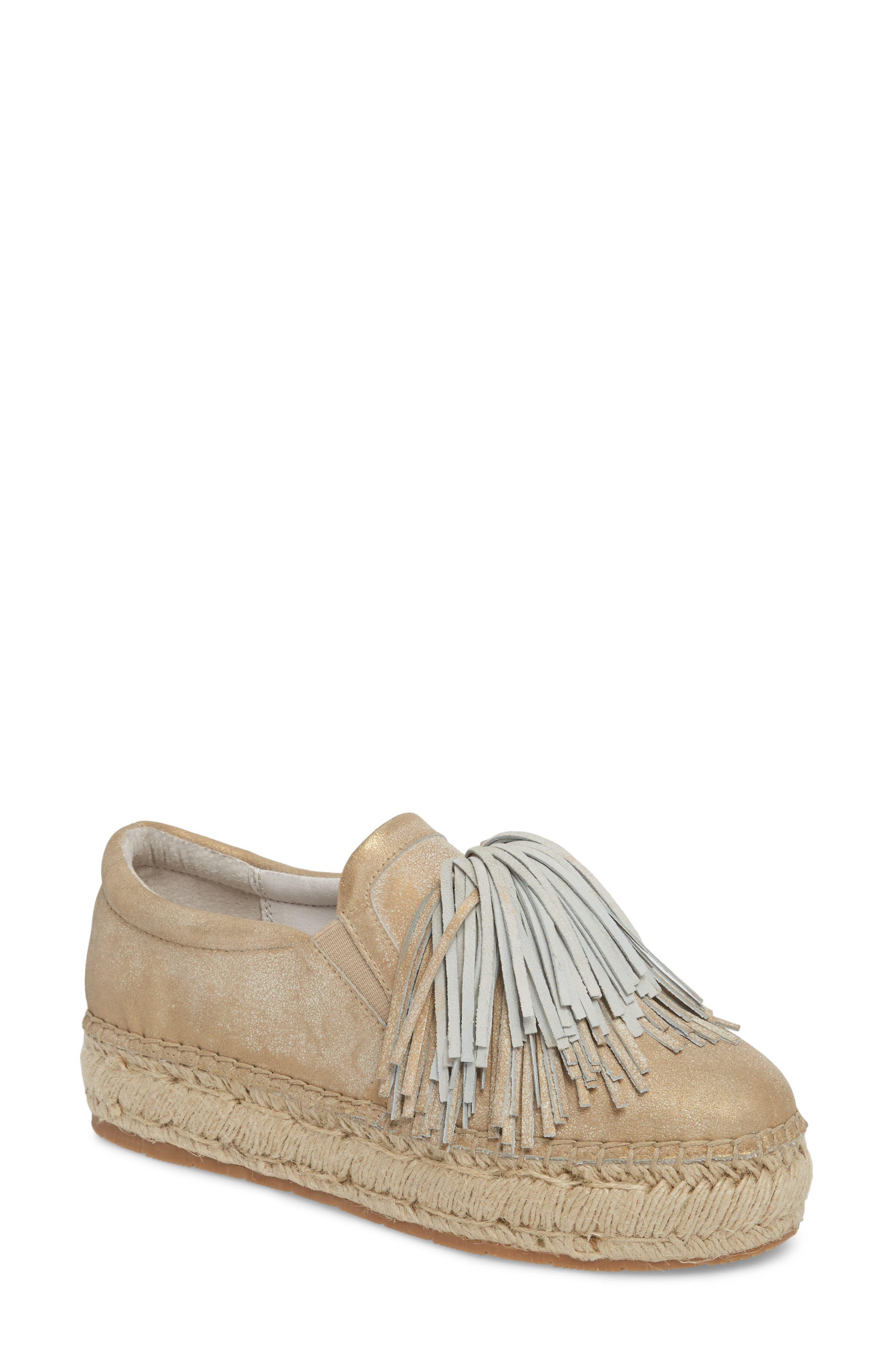 Raoul Espadrille Sneaker,                         Main,                         color, Bronze Leather