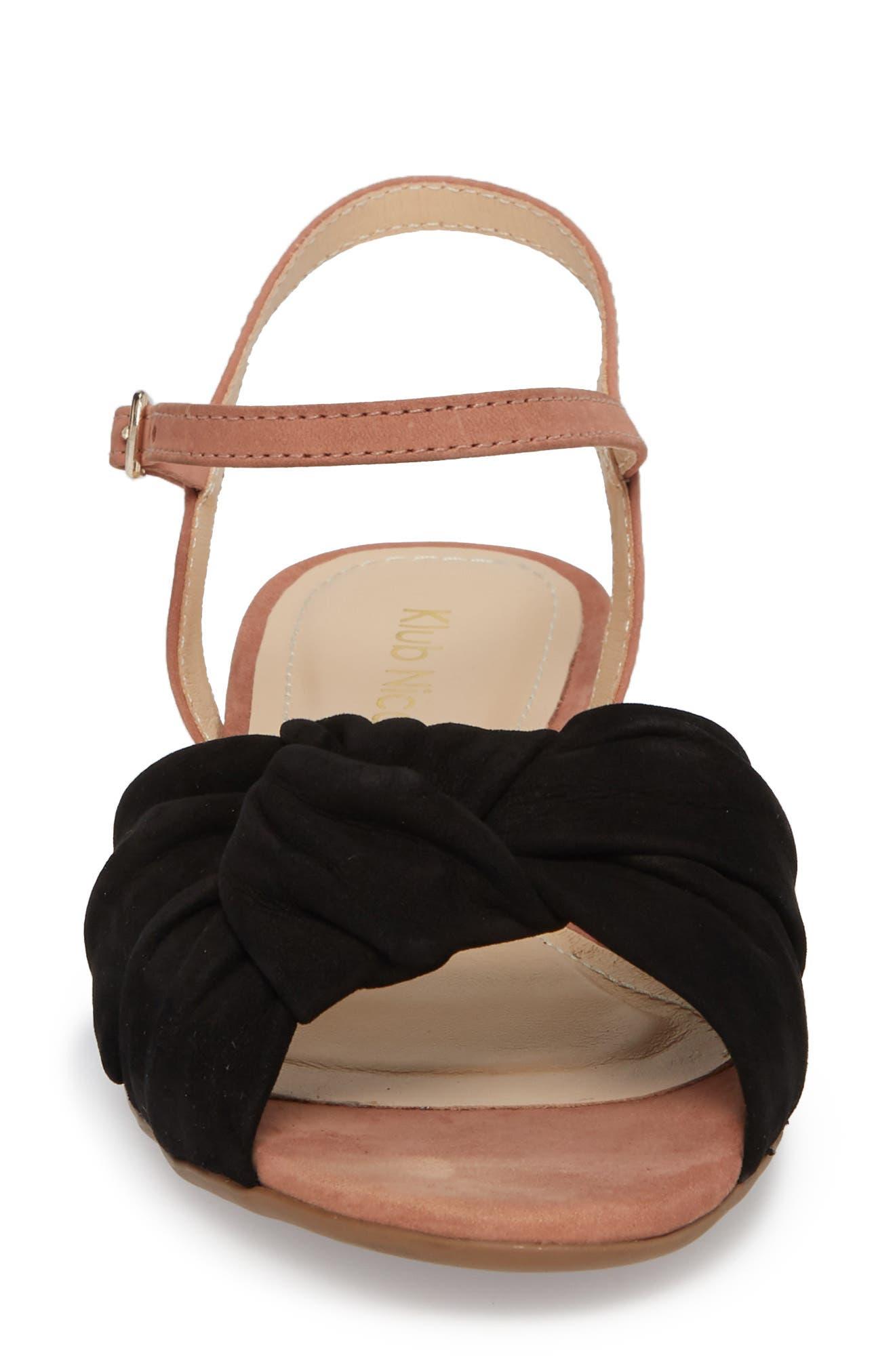 Giley Sandal,                             Alternate thumbnail 4, color,                             Black Nubuck Leather