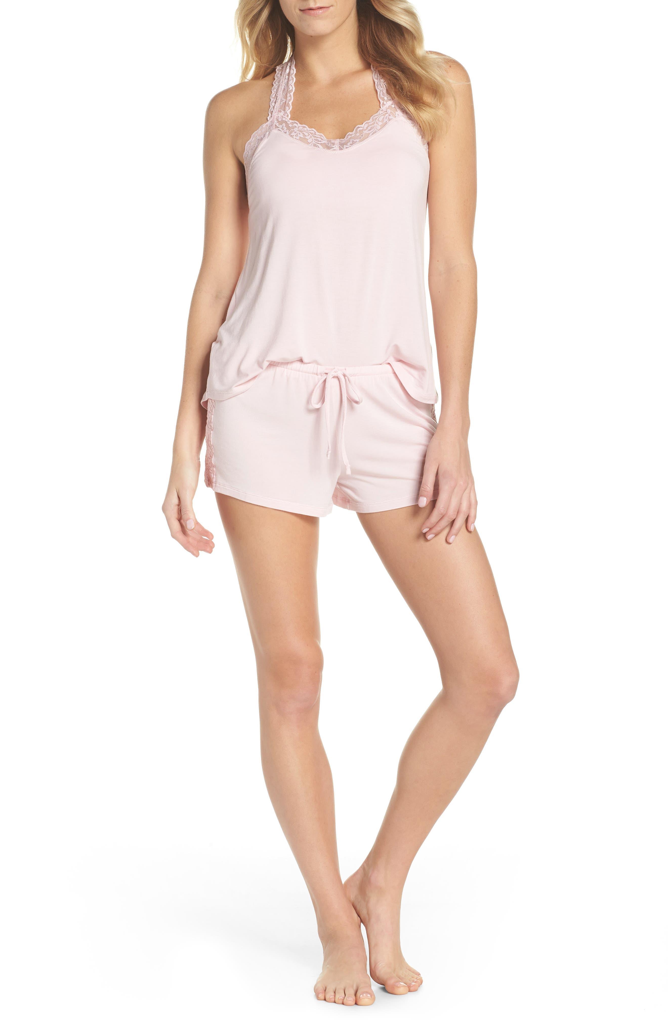 Pajama Shorts,                             Alternate thumbnail 5, color,                             Pink