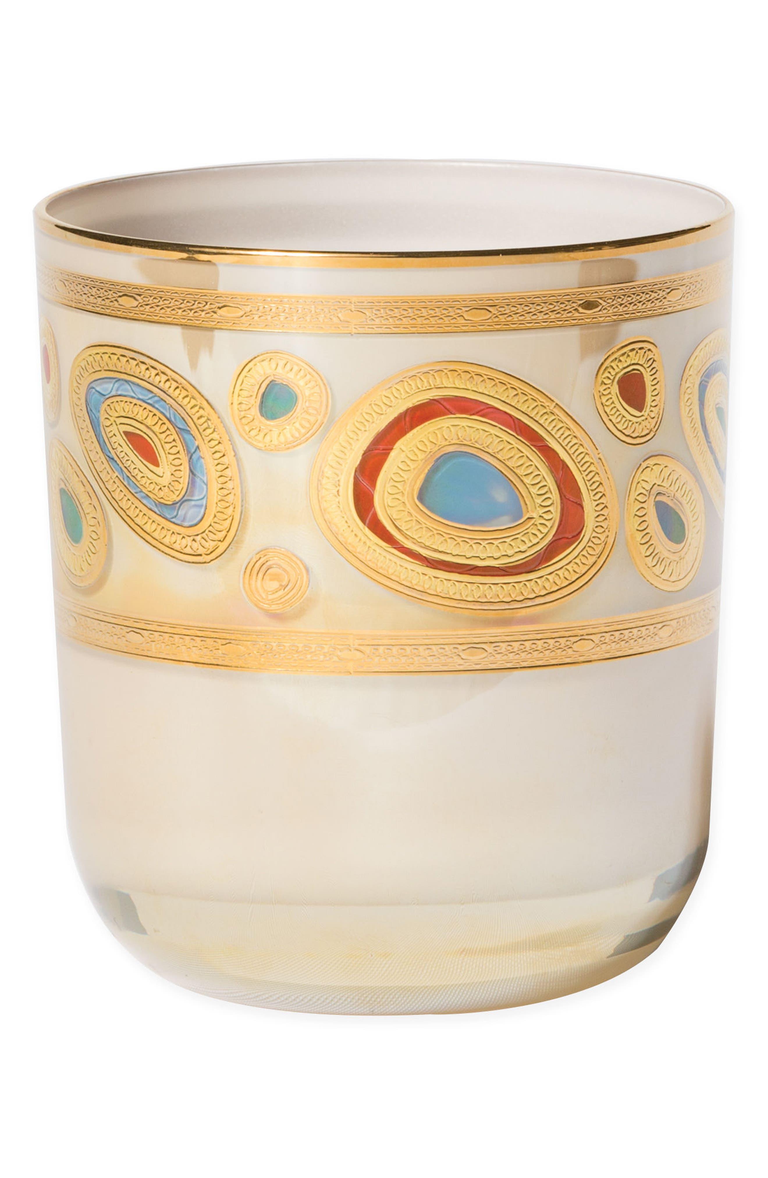 Regalia Double Old-Fashioned Glass,                         Main,                         color, Cream