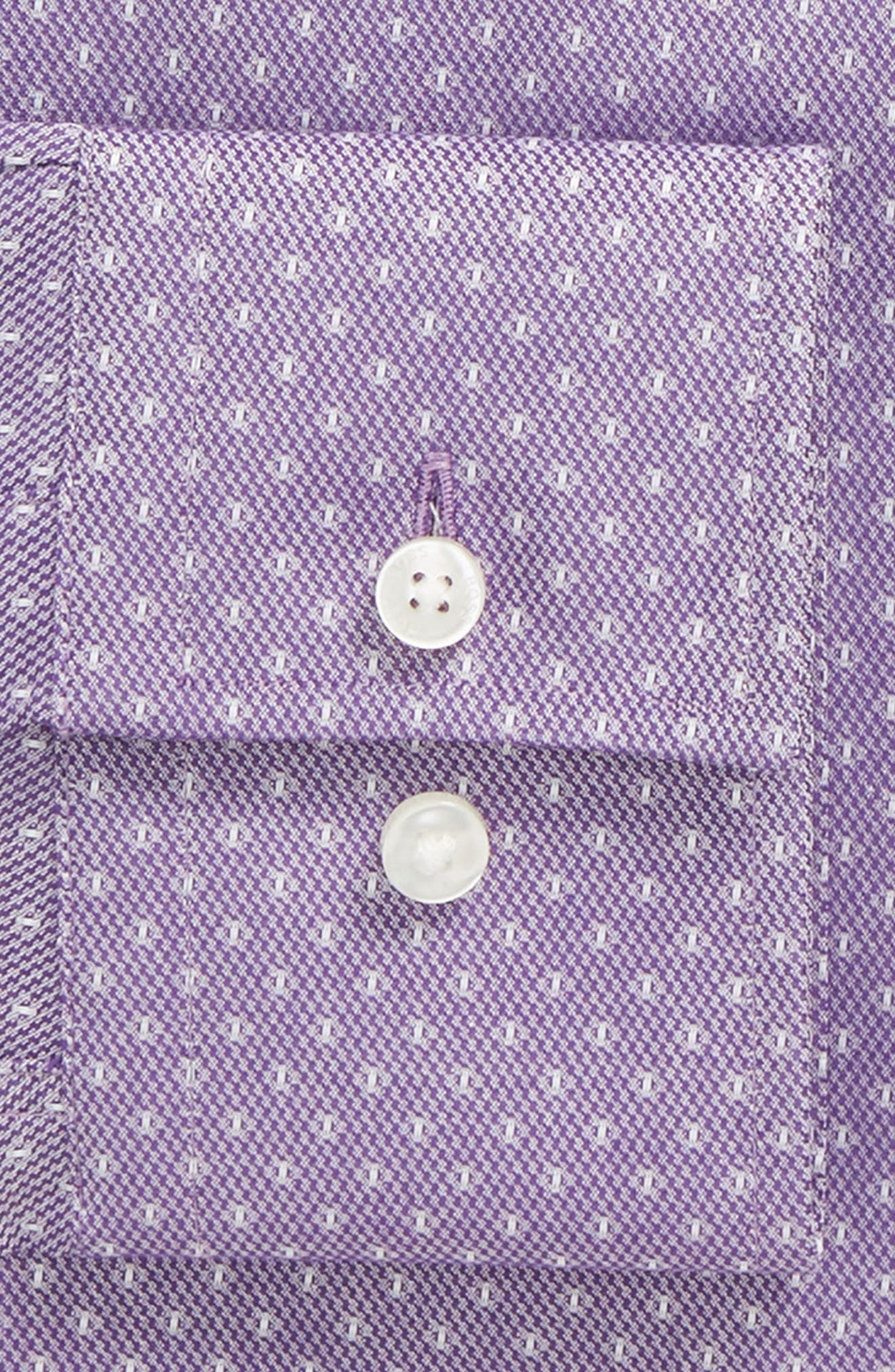 Jason Slim Fit Dot Dress Shirt,                             Alternate thumbnail 2, color,                             Purple