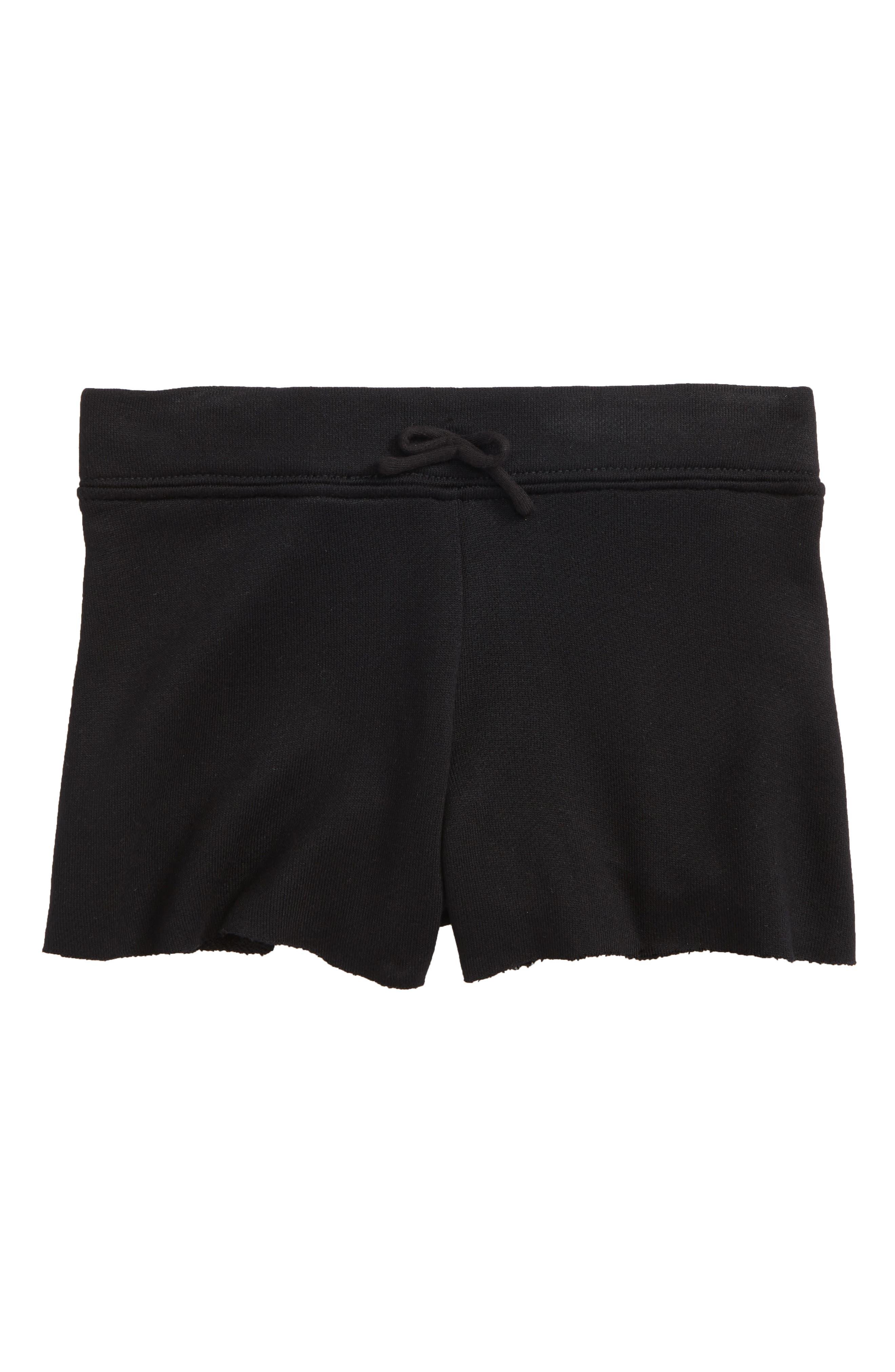 Knit Shorts,                             Main thumbnail 1, color,                             Black-Solid