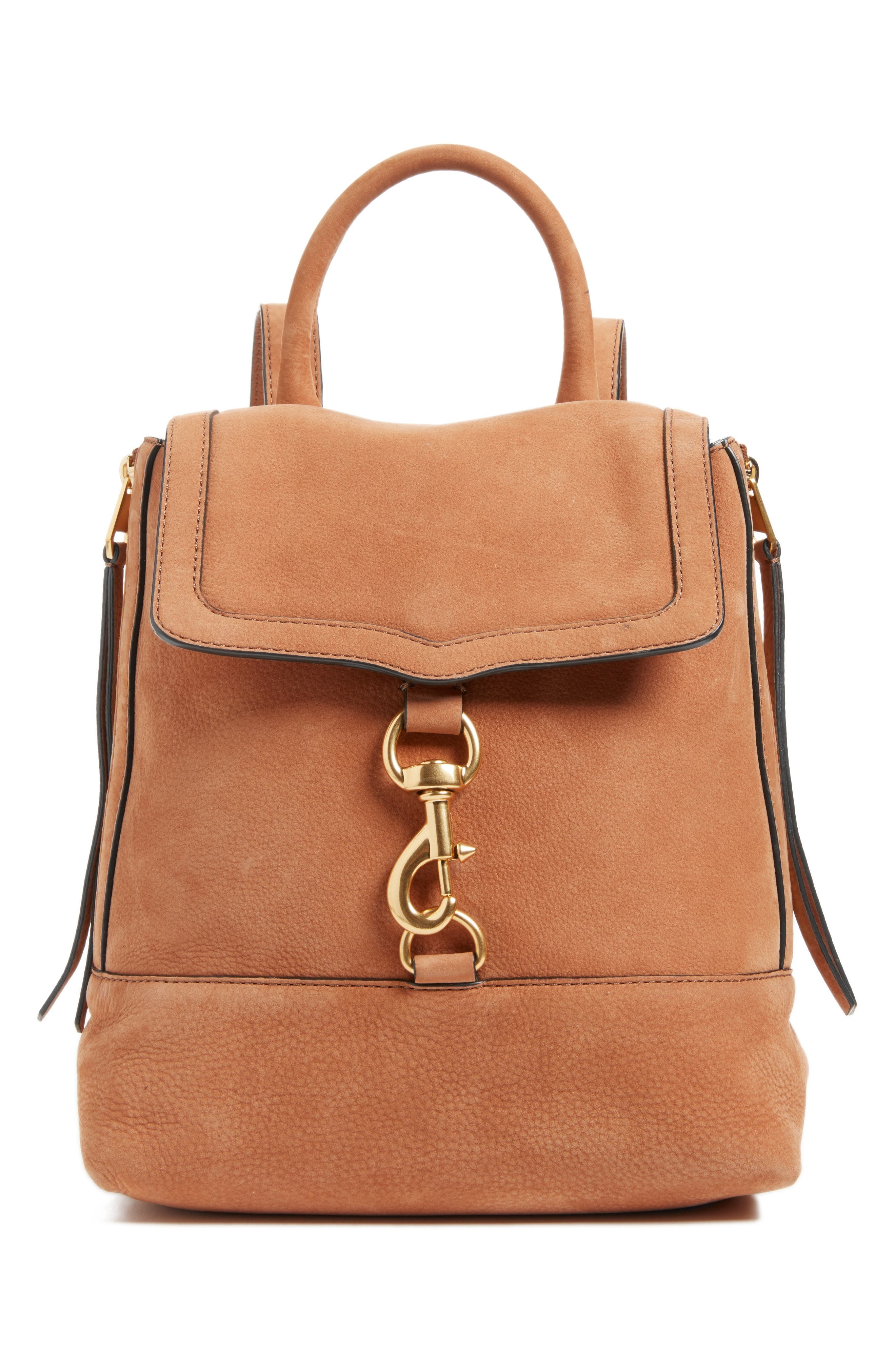 Rebecca Minkoff  BREE LEATHER CONVERTIBLE BACKPACK - BROWN