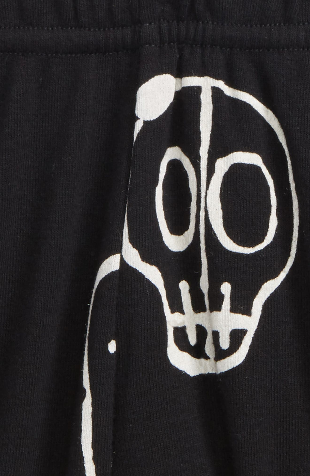 kull Mask Yoga Shorts,                             Alternate thumbnail 2, color,                             Black