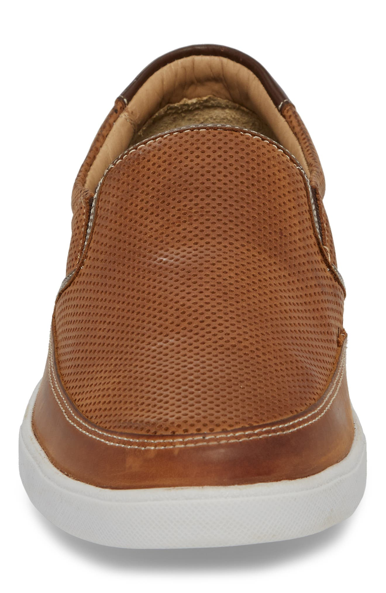 Quinton Slip-On,                             Alternate thumbnail 4, color,                             Tan Leather