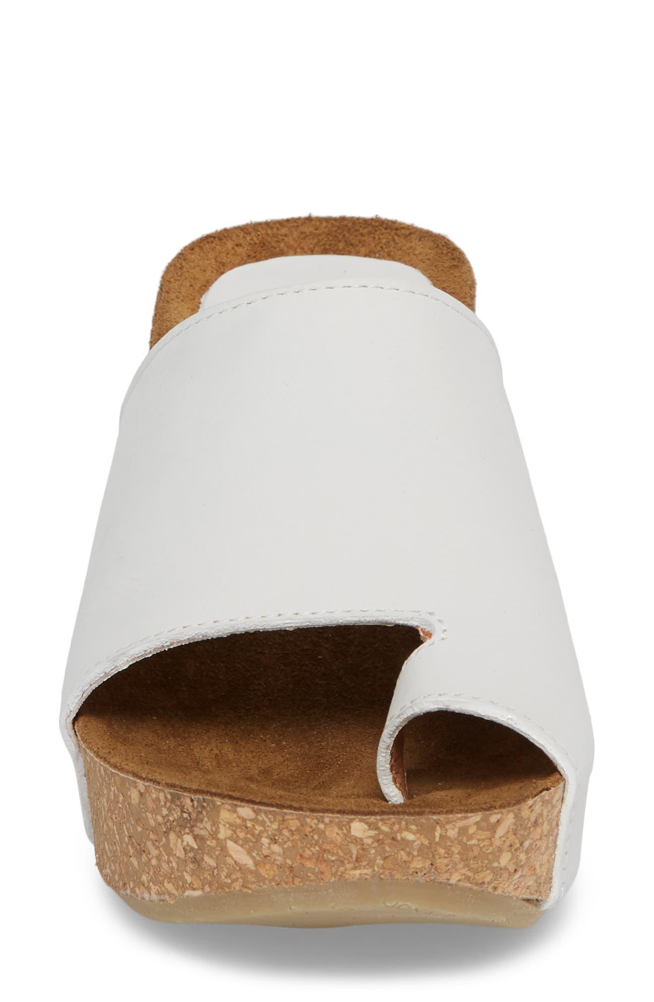 Donald J Pliner Ginie Platform Wedge Sandal,                             Alternate thumbnail 4, color,                             Bone Leather