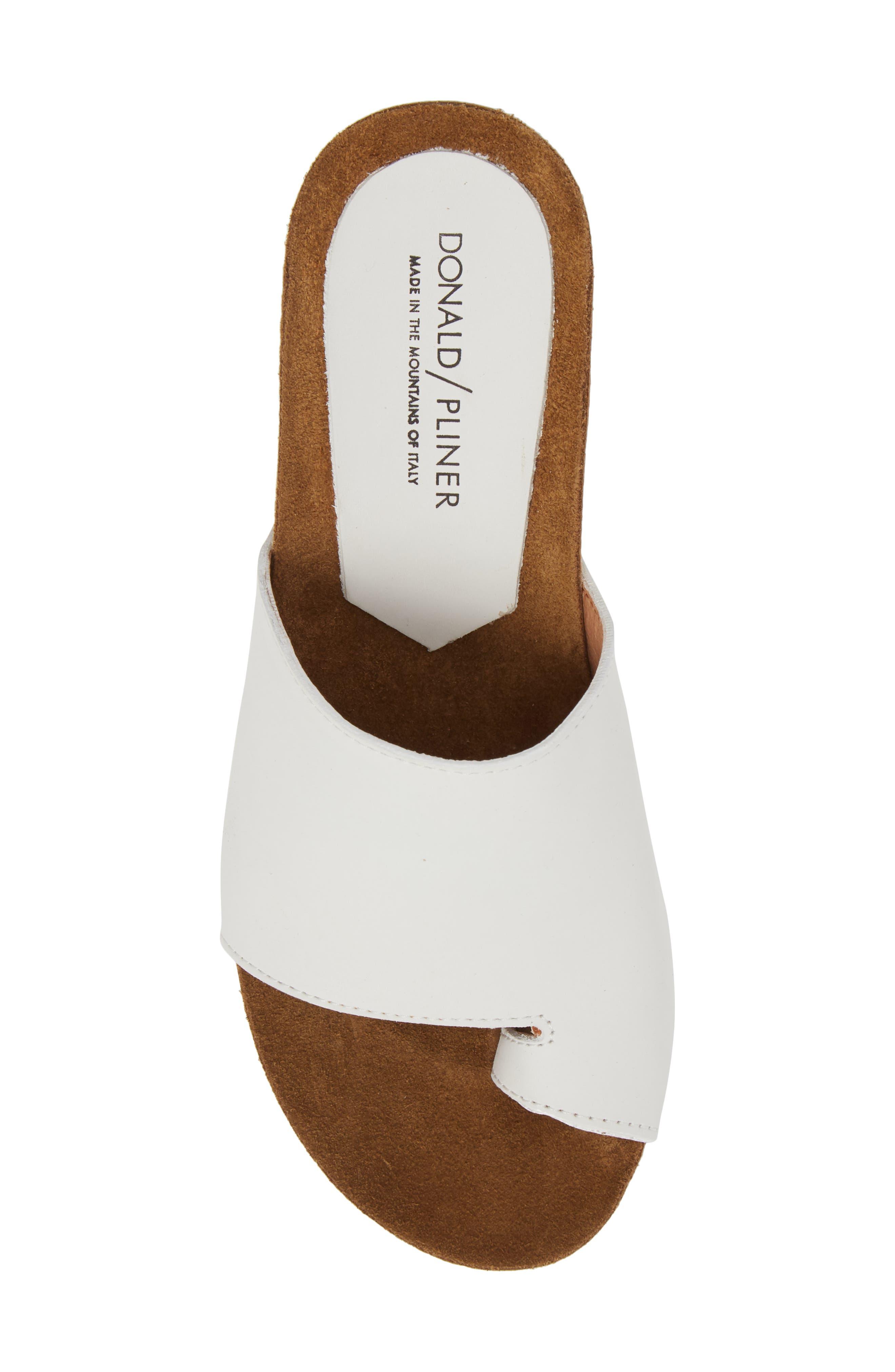 Donald J Pliner Ginie Platform Wedge Sandal,                             Alternate thumbnail 5, color,                             Bone Leather