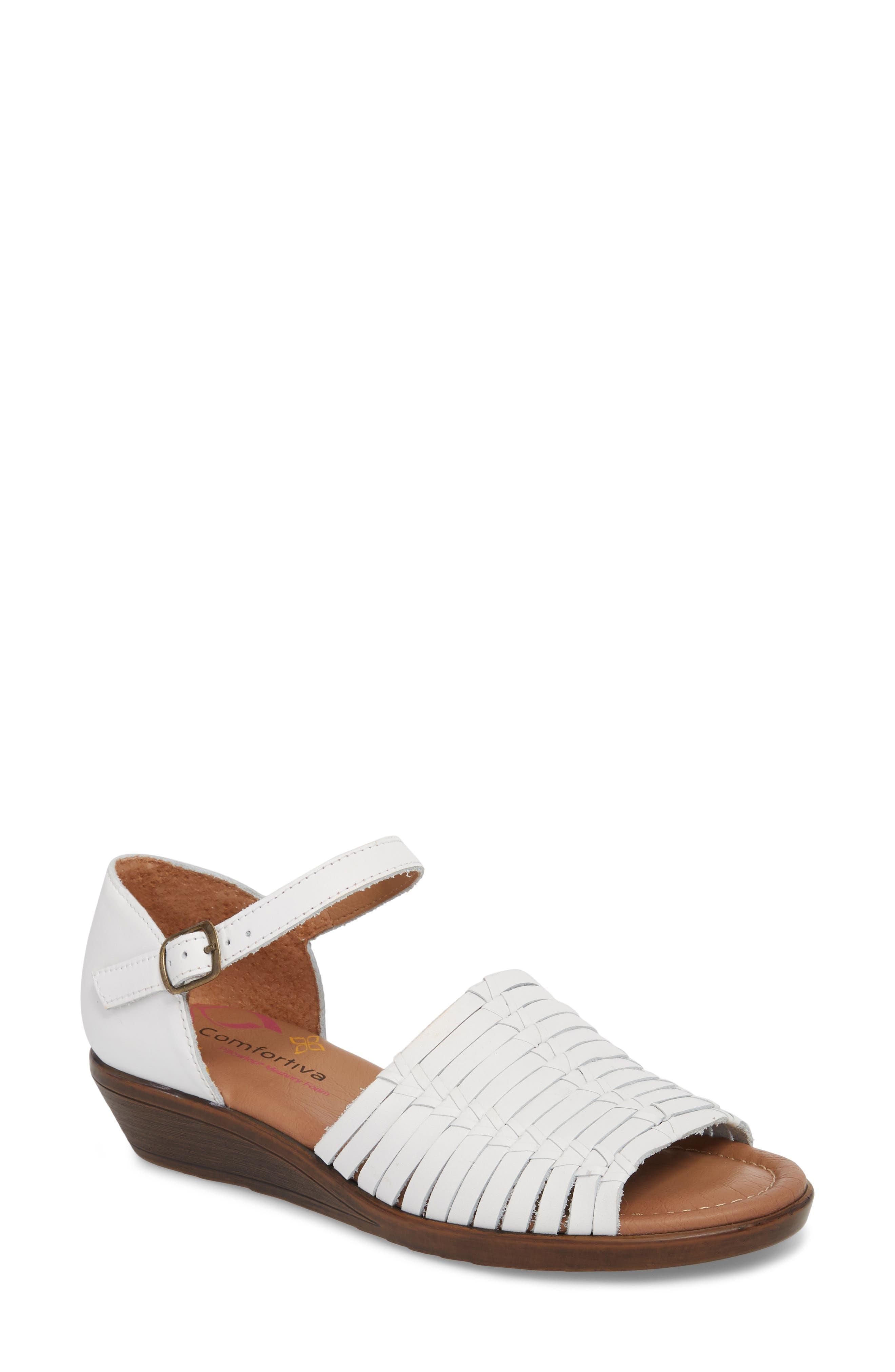 Fayann Sandal,                         Main,                         color, White Leather