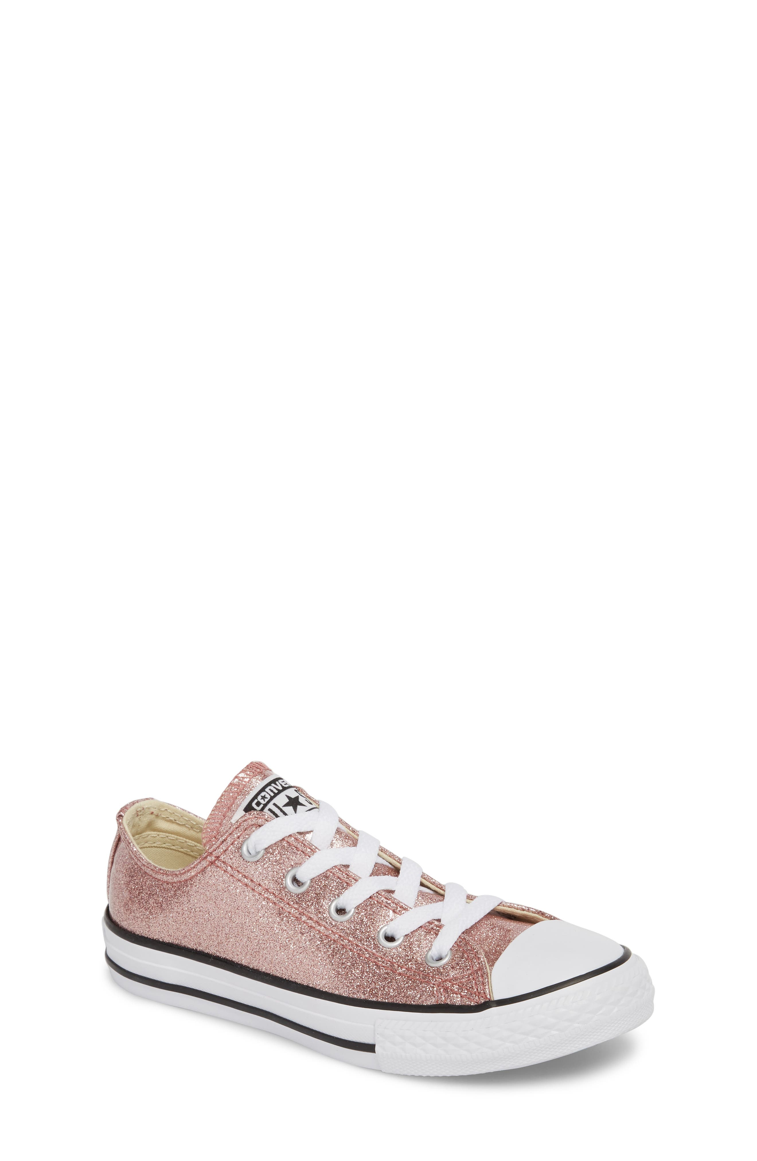 Chuck Taylor<sup>®</sup> All Star<sup>®</sup> Glitter Slip-On,                         Main,                         color, Rose Gold