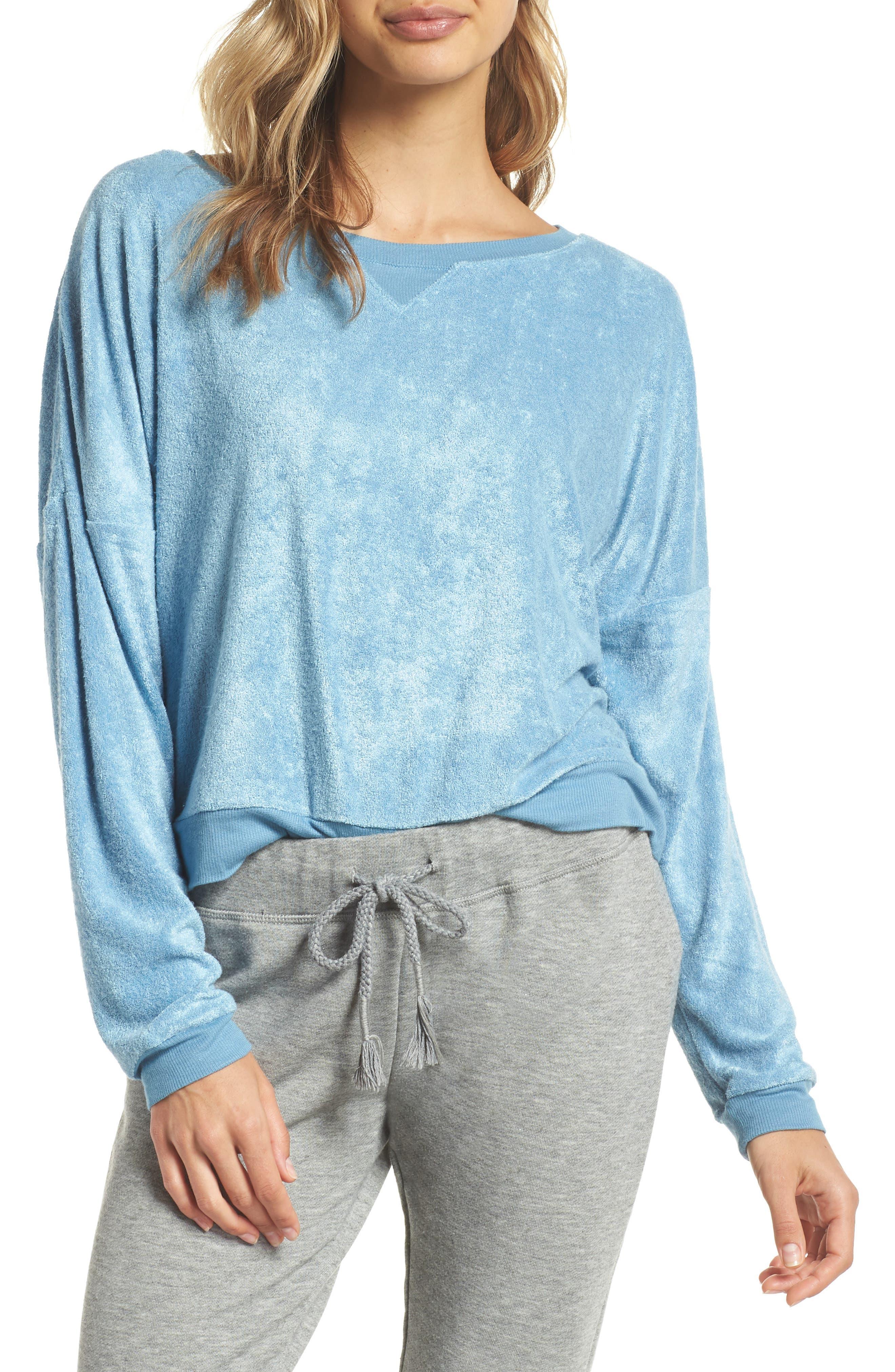 Terry Sweatshirt,                         Main,                         color, Light Steller