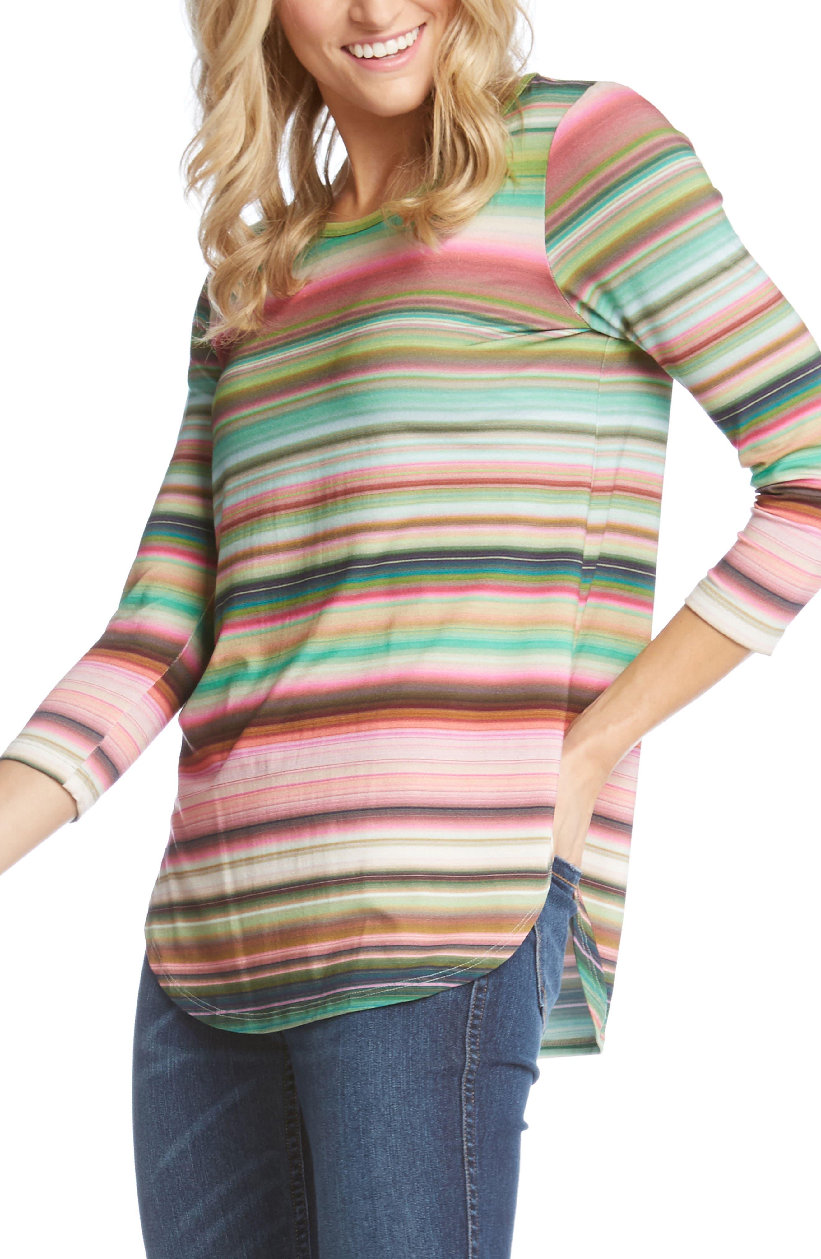 Mixed Stripe Top,                             Alternate thumbnail 3, color,                             Stripe