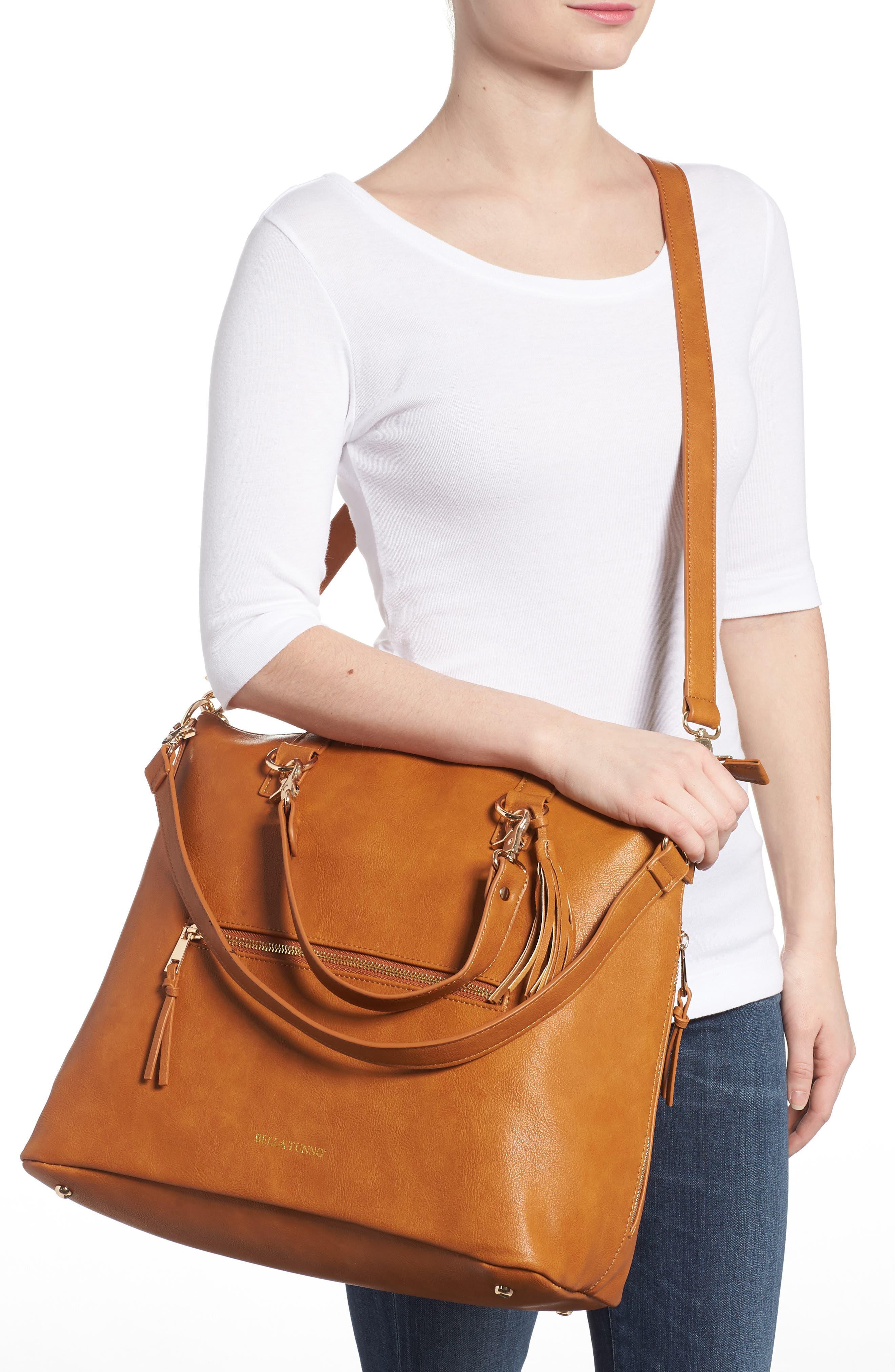 Boss Bag Convertible Diaper Backpack,                             Alternate thumbnail 2, color,                             Cognac