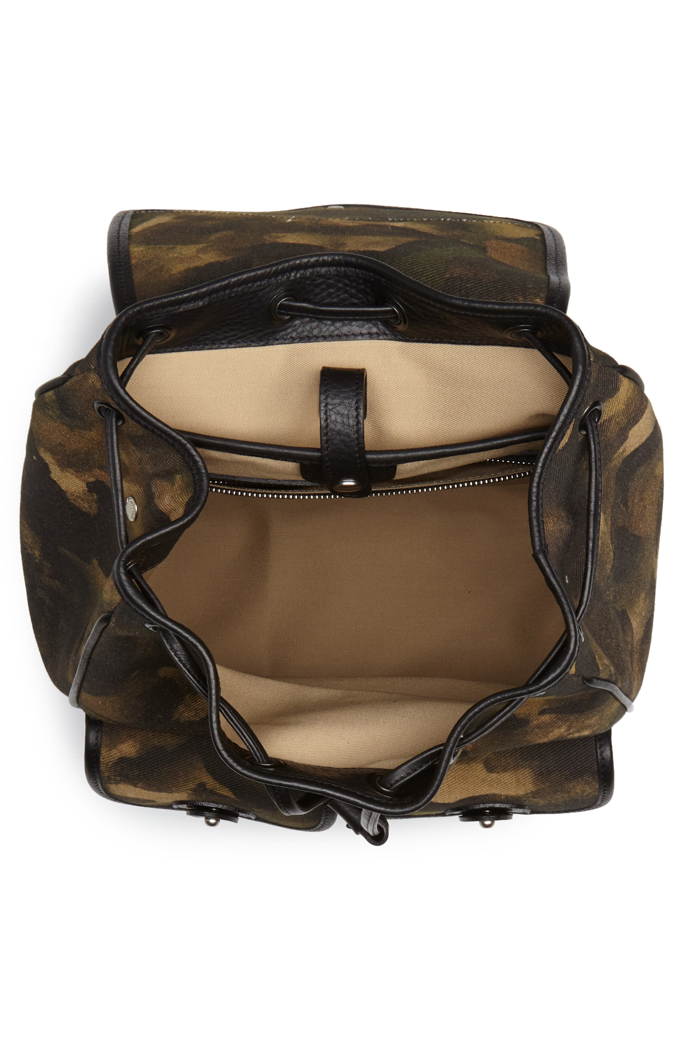 Blazer Canvas Backpack,                             Alternate thumbnail 4, color,                             Camo Solid