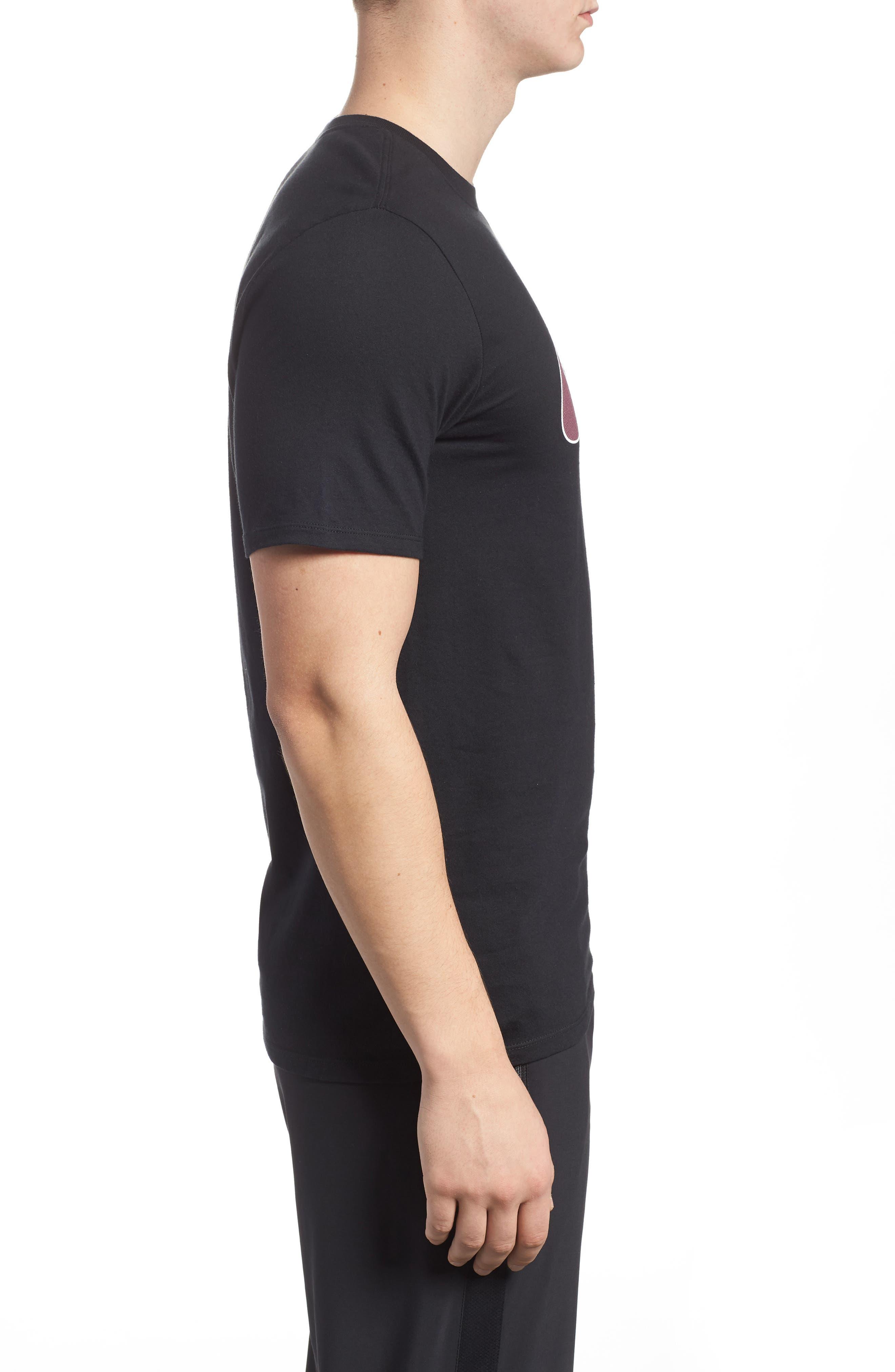 Sportswear Futura Logo Graphic T-Shirt,                             Alternate thumbnail 3, color,                             Black/ Vintage Wine