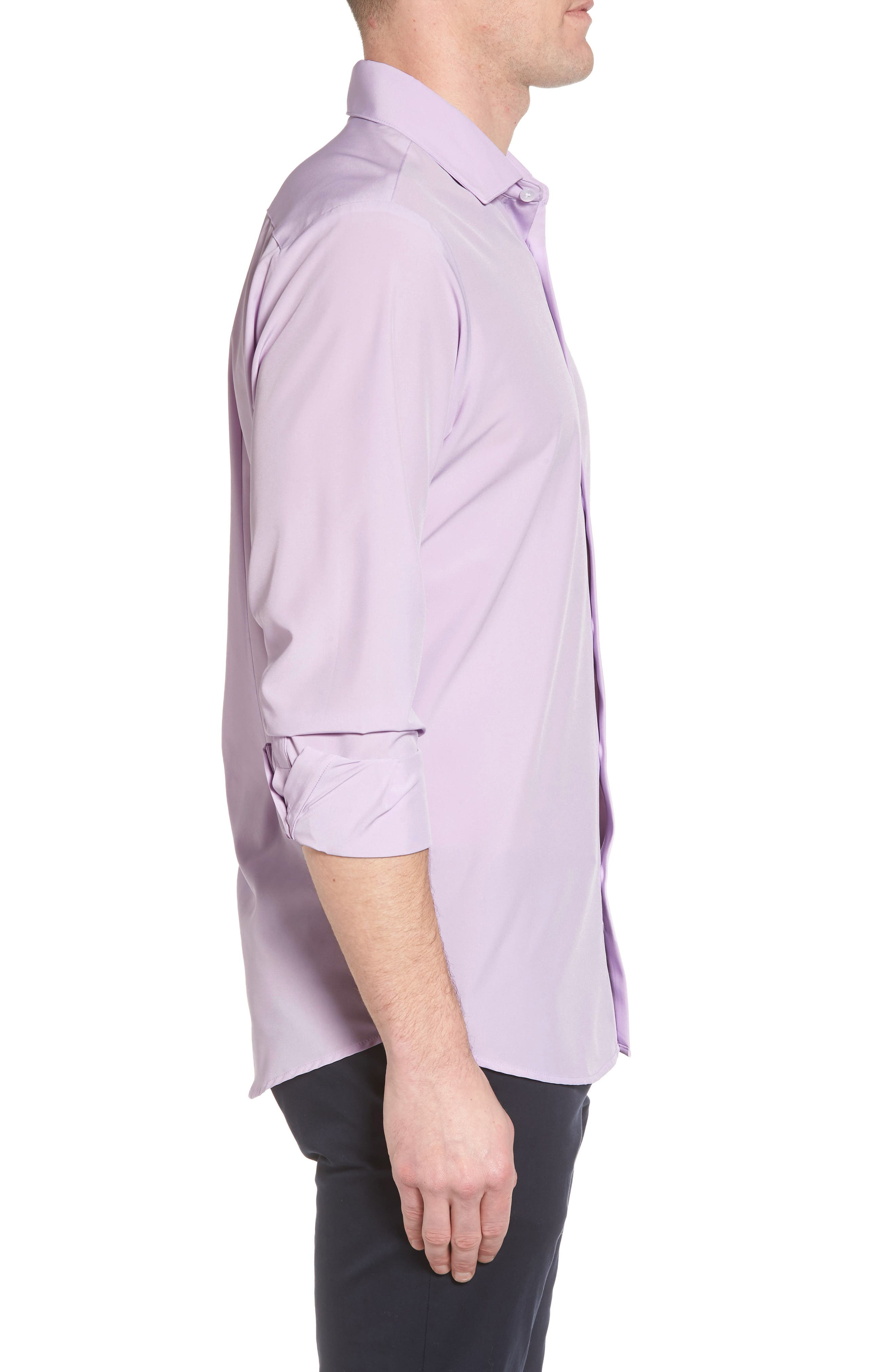 Henderson Performance Sport Shirt,                             Alternate thumbnail 3, color,                             Purple