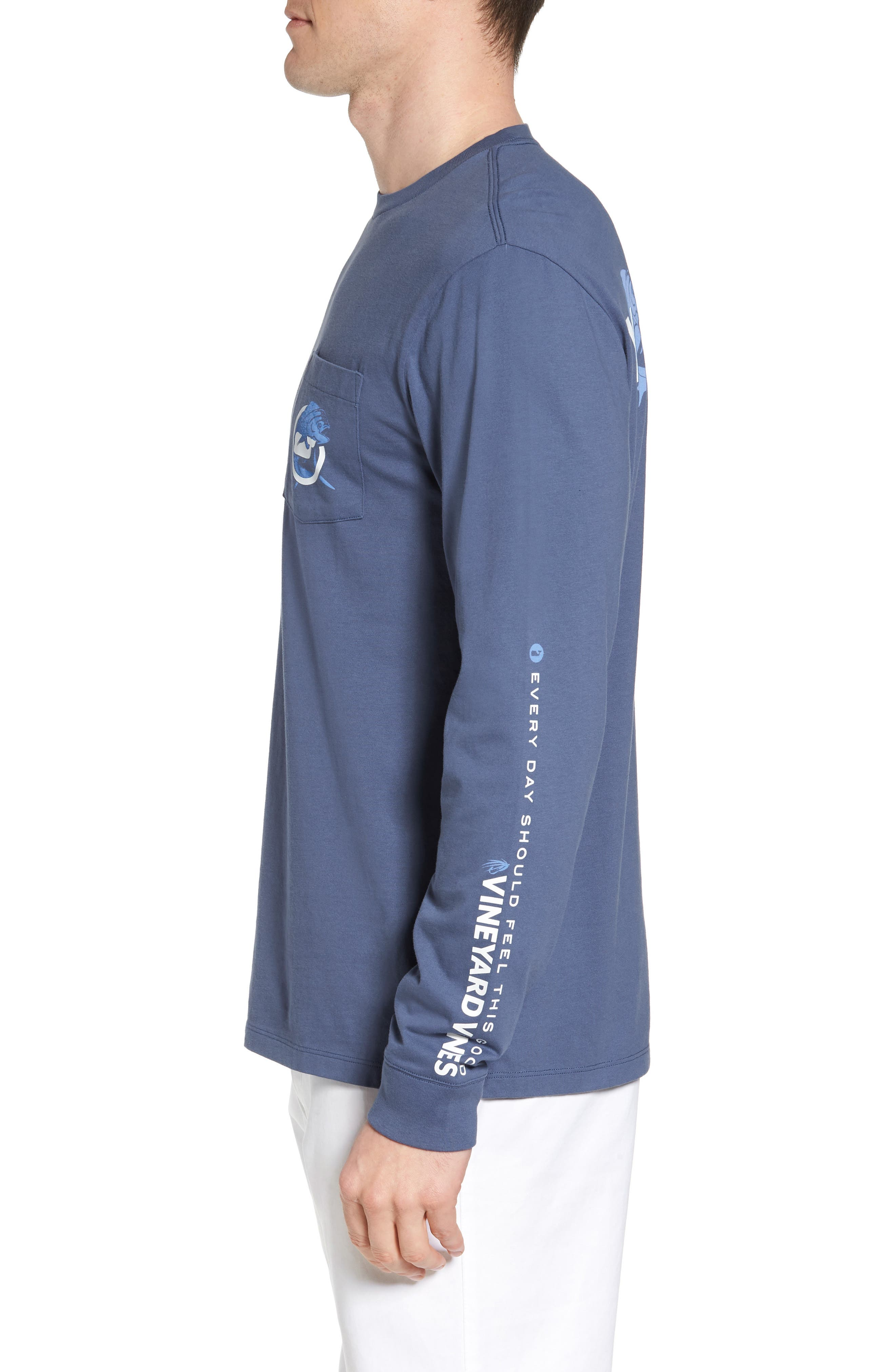 Mahi Long Sleeve T-Shirt,                             Alternate thumbnail 3, color,                             Moonshine