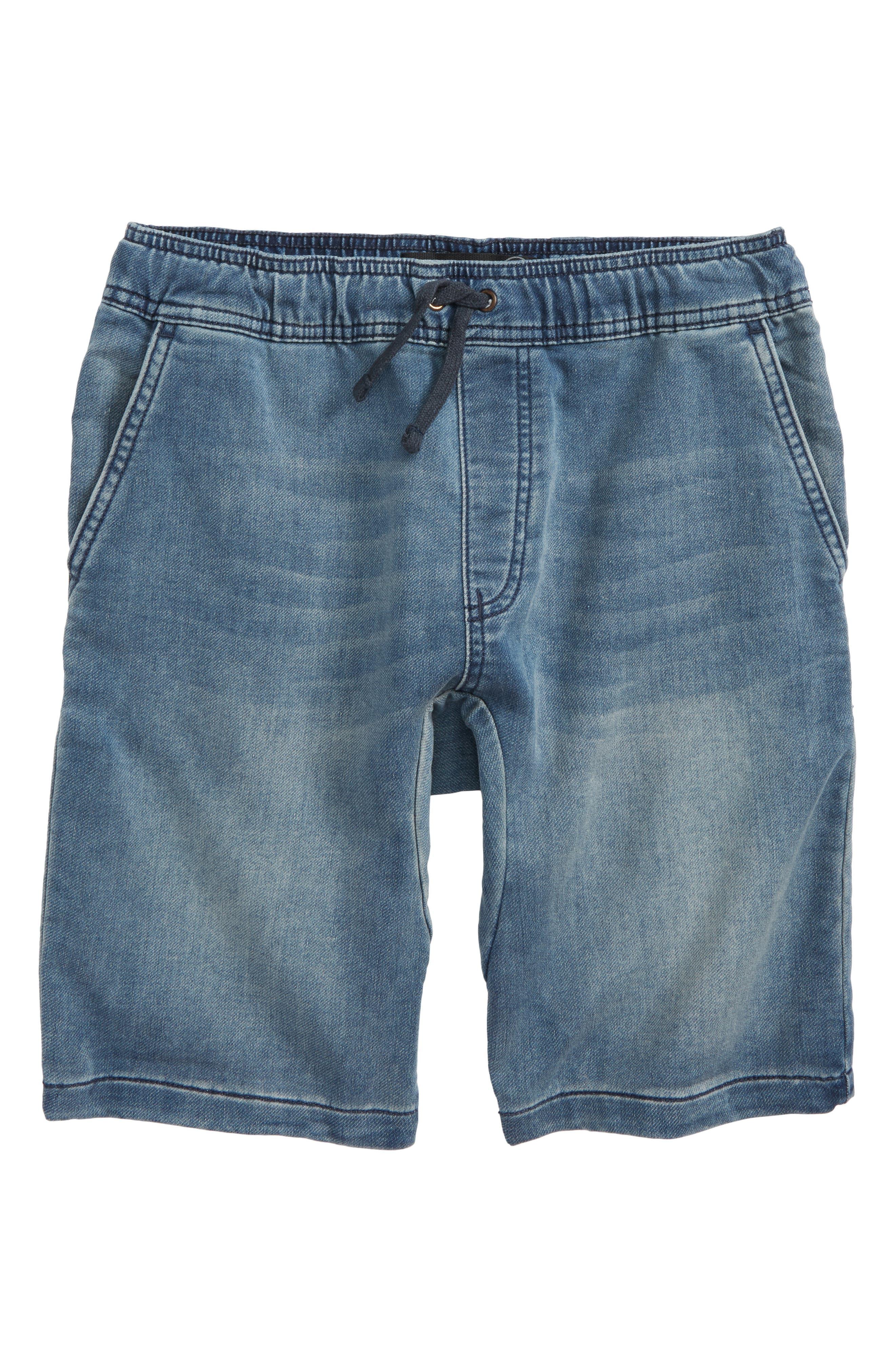 Denim Jogger Shorts,                             Main thumbnail 1, color,                             Lott Wash