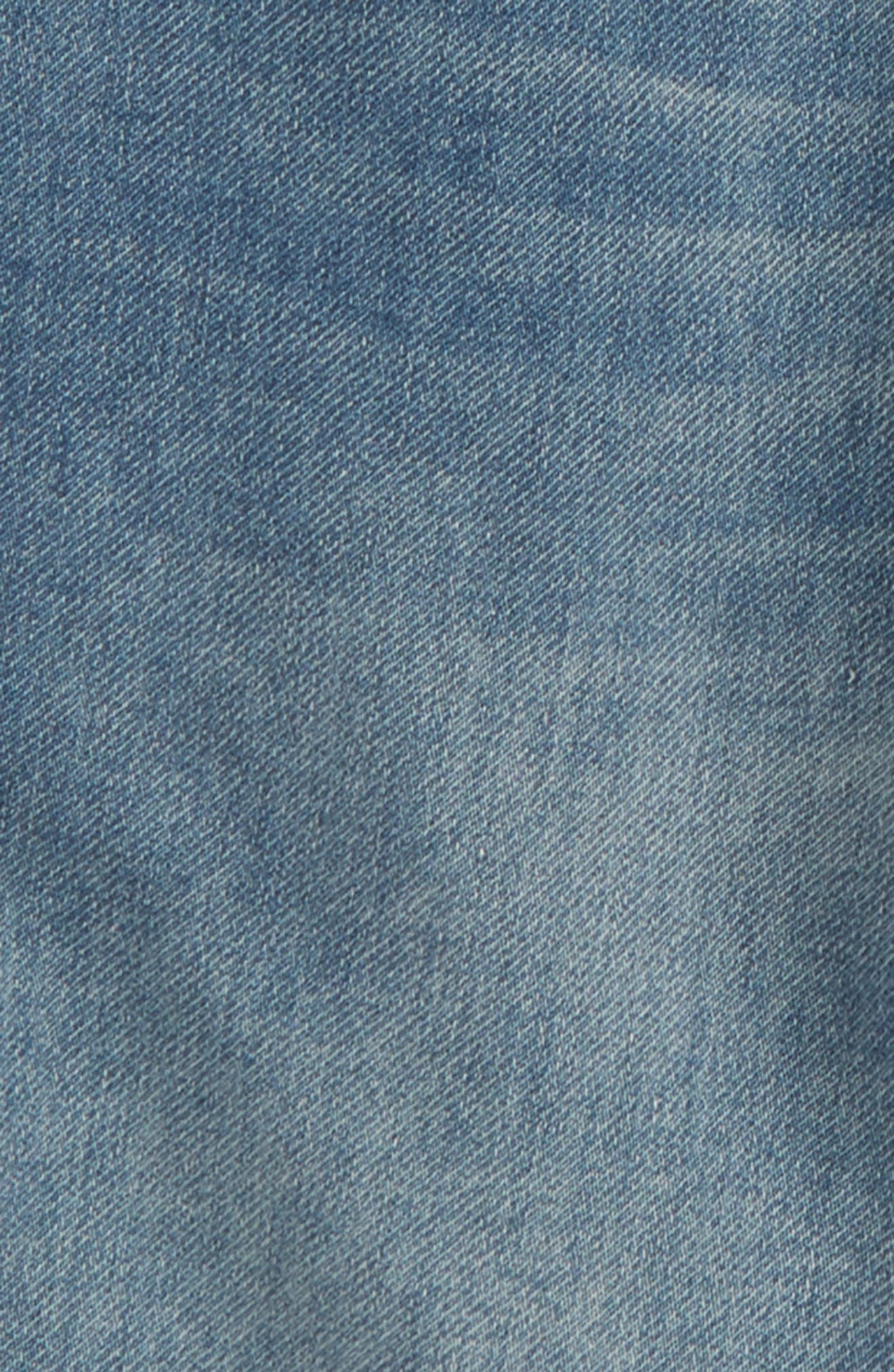 Denim Jogger Shorts,                             Alternate thumbnail 3, color,                             Lott Wash