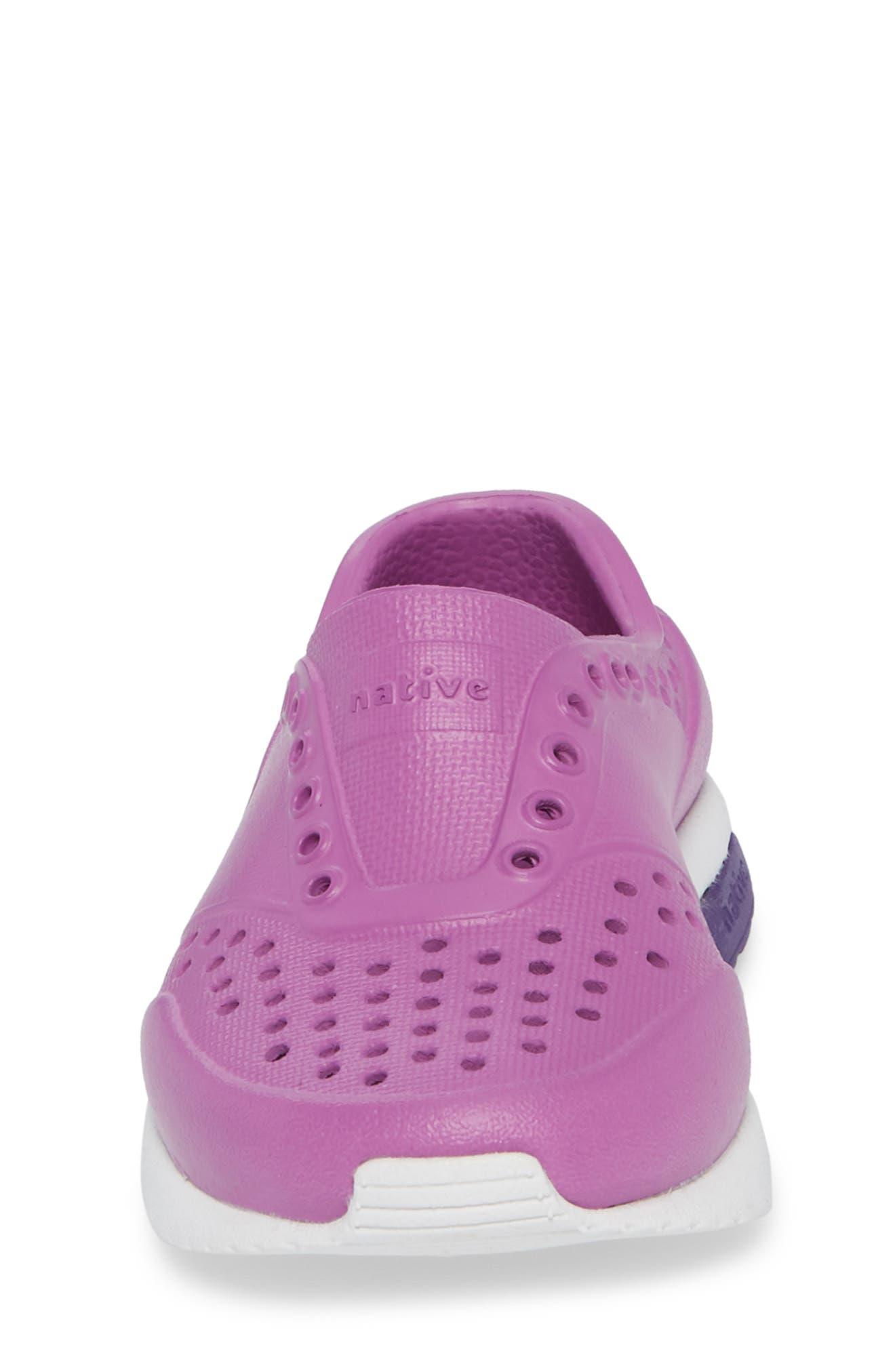 Lennox Slip-On Sneaker,                             Alternate thumbnail 4, color,                             Peace Purple/ Shell White