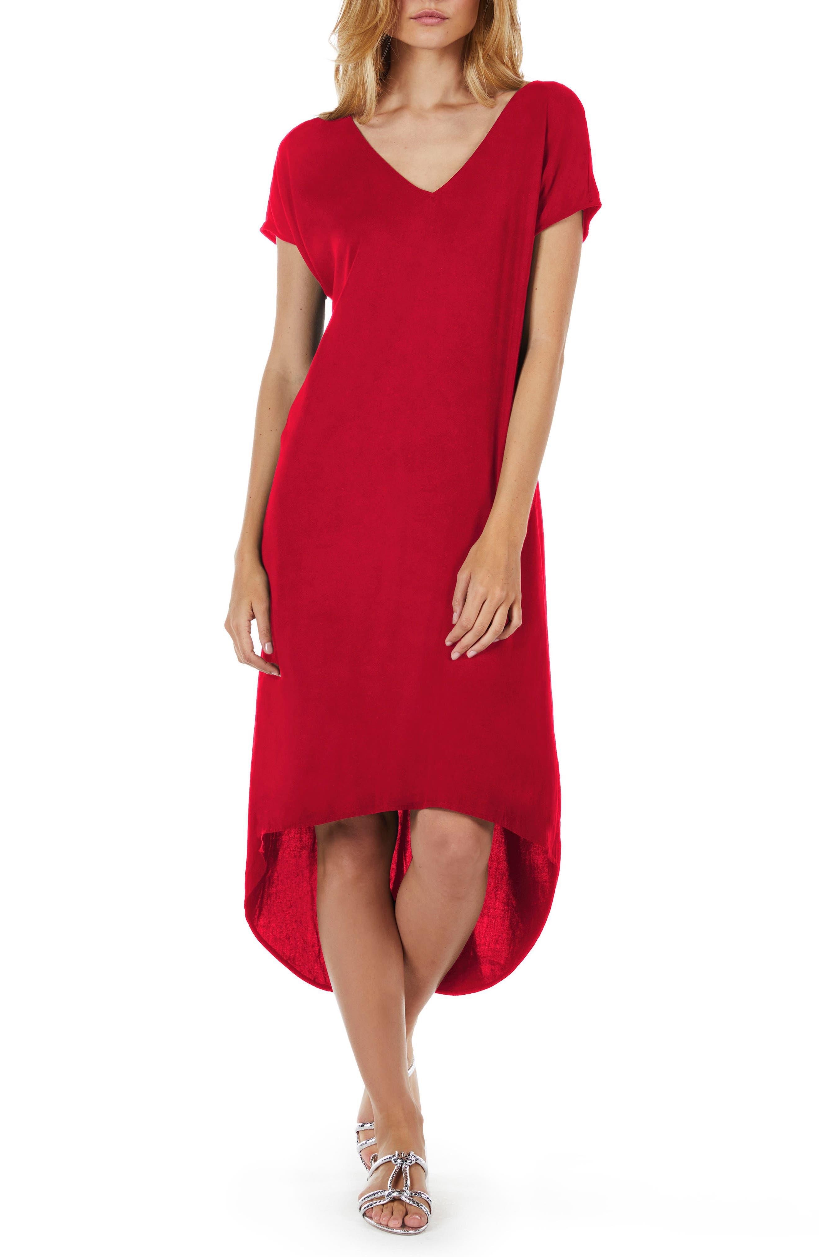 High/Low A-Line Dress,                         Main,                         color, Hacienda