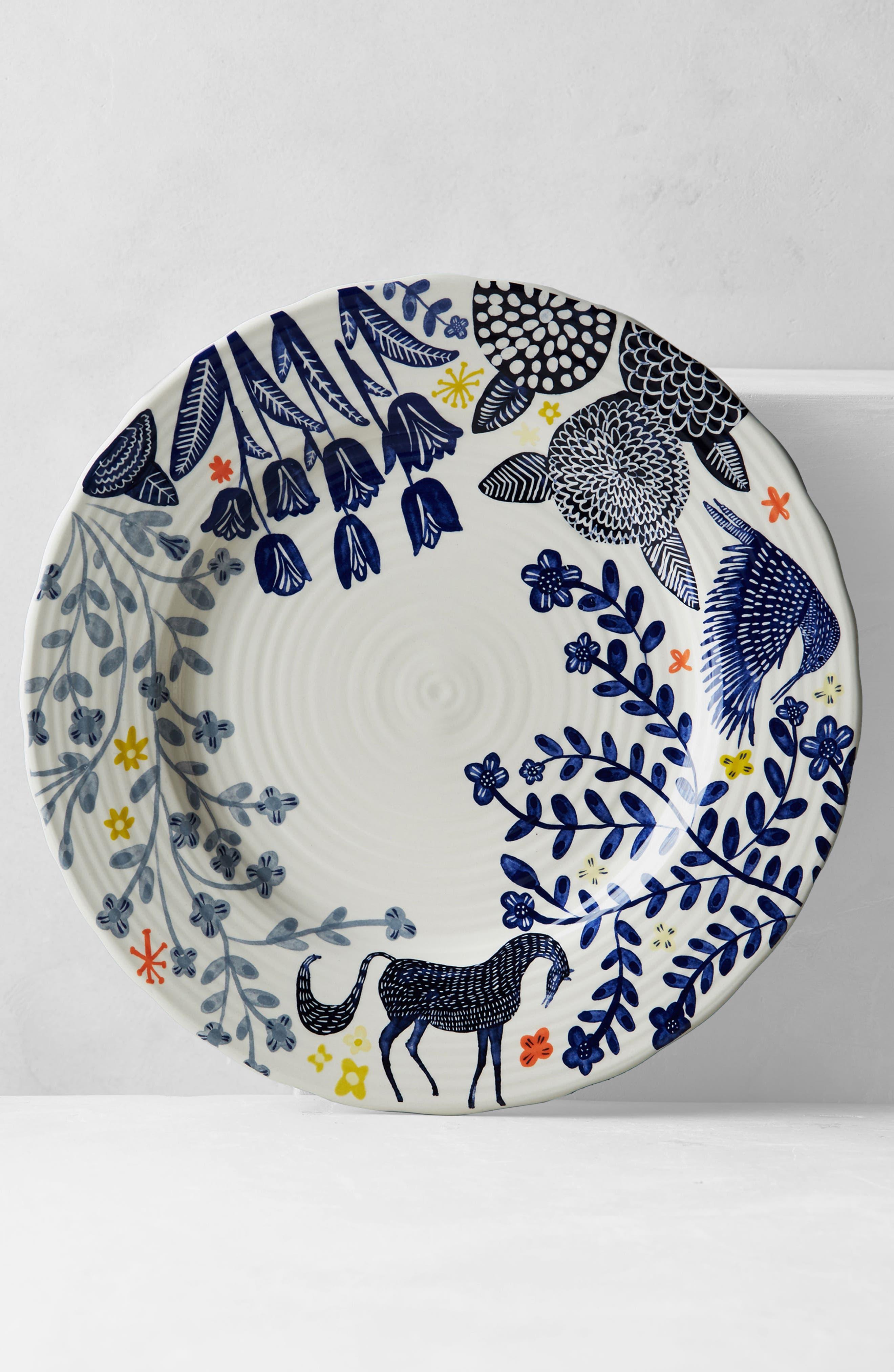 Saga Dinner Plate,                             Alternate thumbnail 3, color,                             Dark Blue