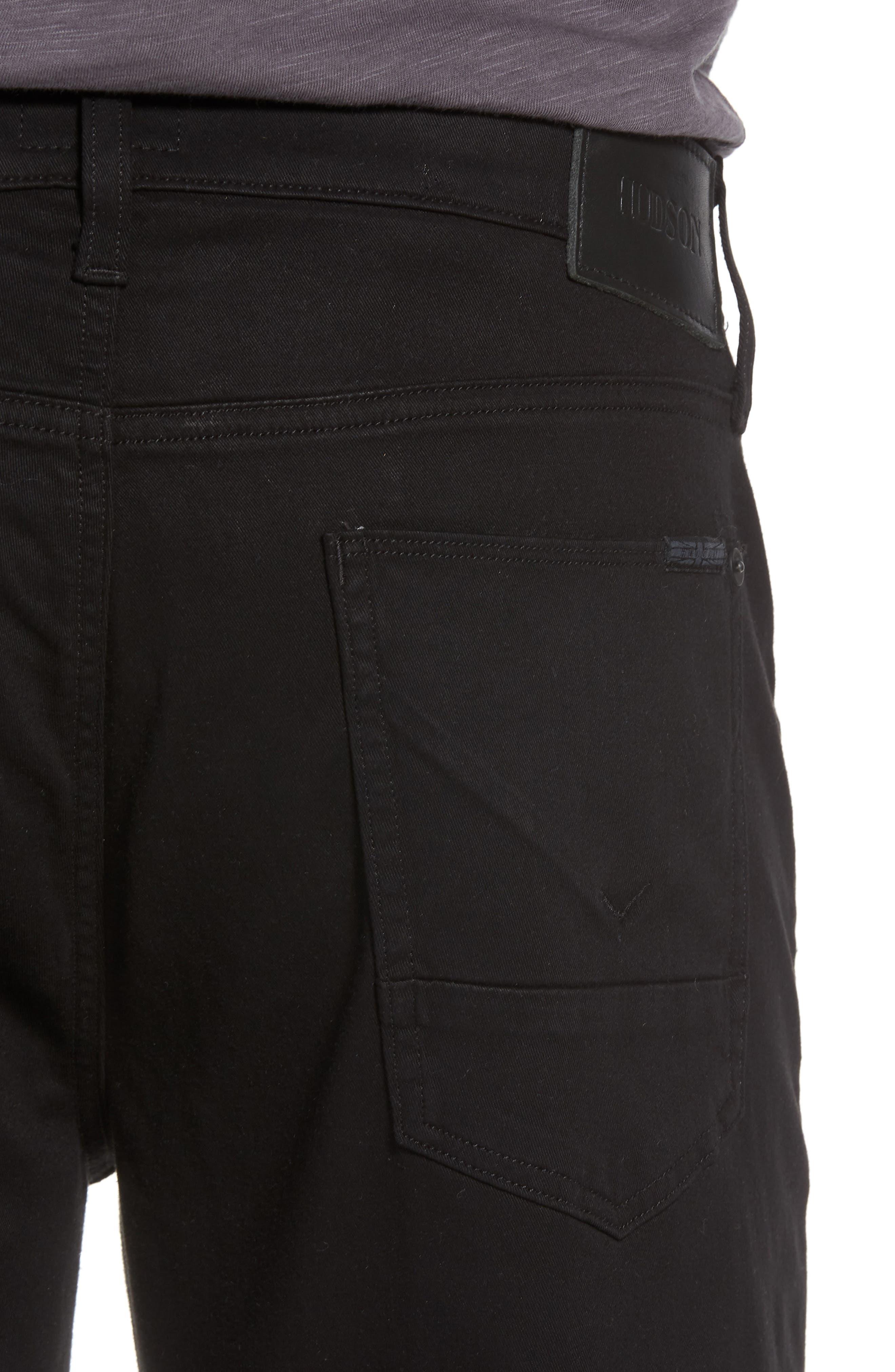 Byron Slim Straight Leg Jeans,                             Alternate thumbnail 4, color,                             Blackened