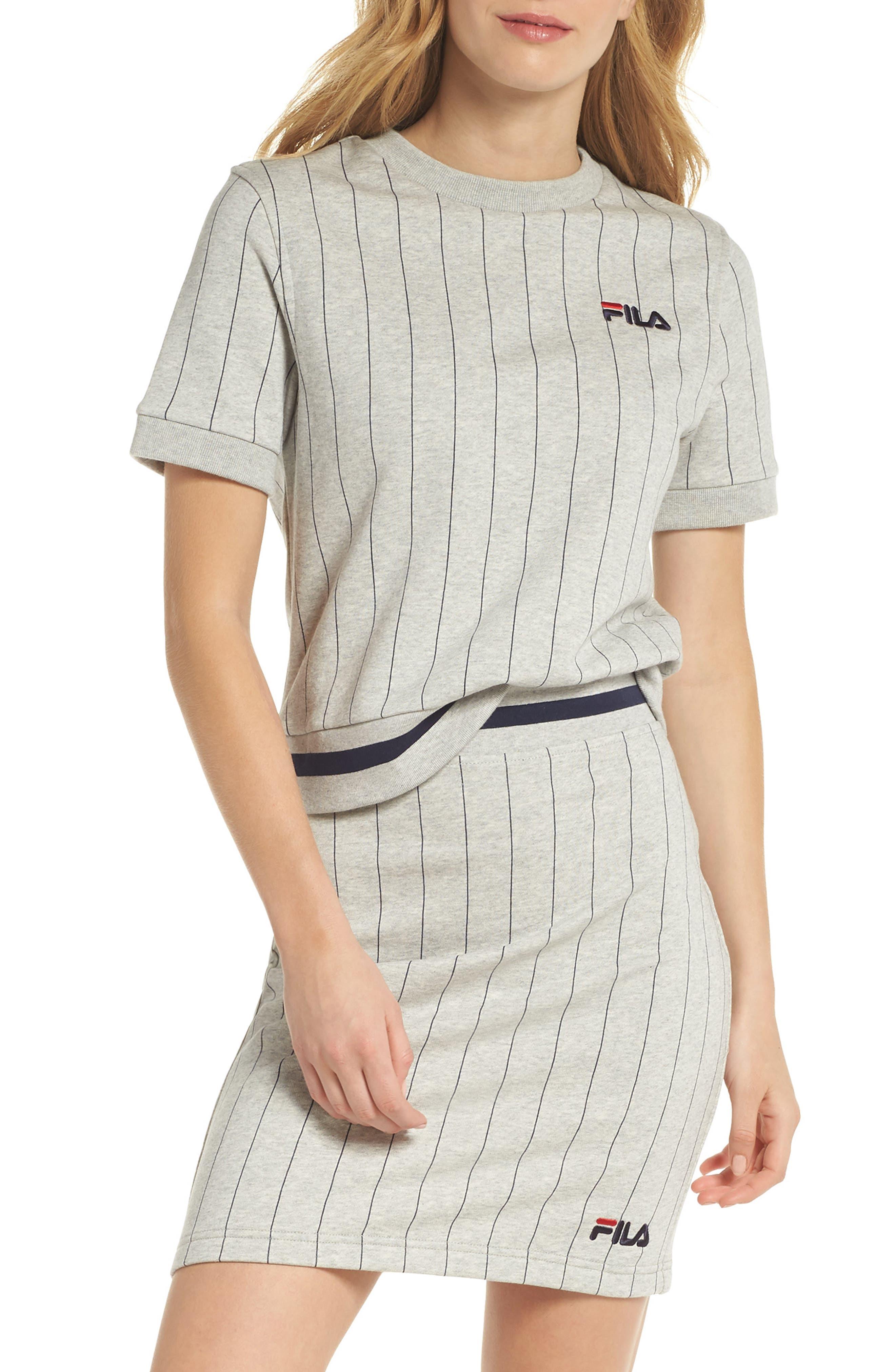 Bren Stripe Sweatshirt,                             Main thumbnail 1, color,                             Light Grey Marl/ Peacoat