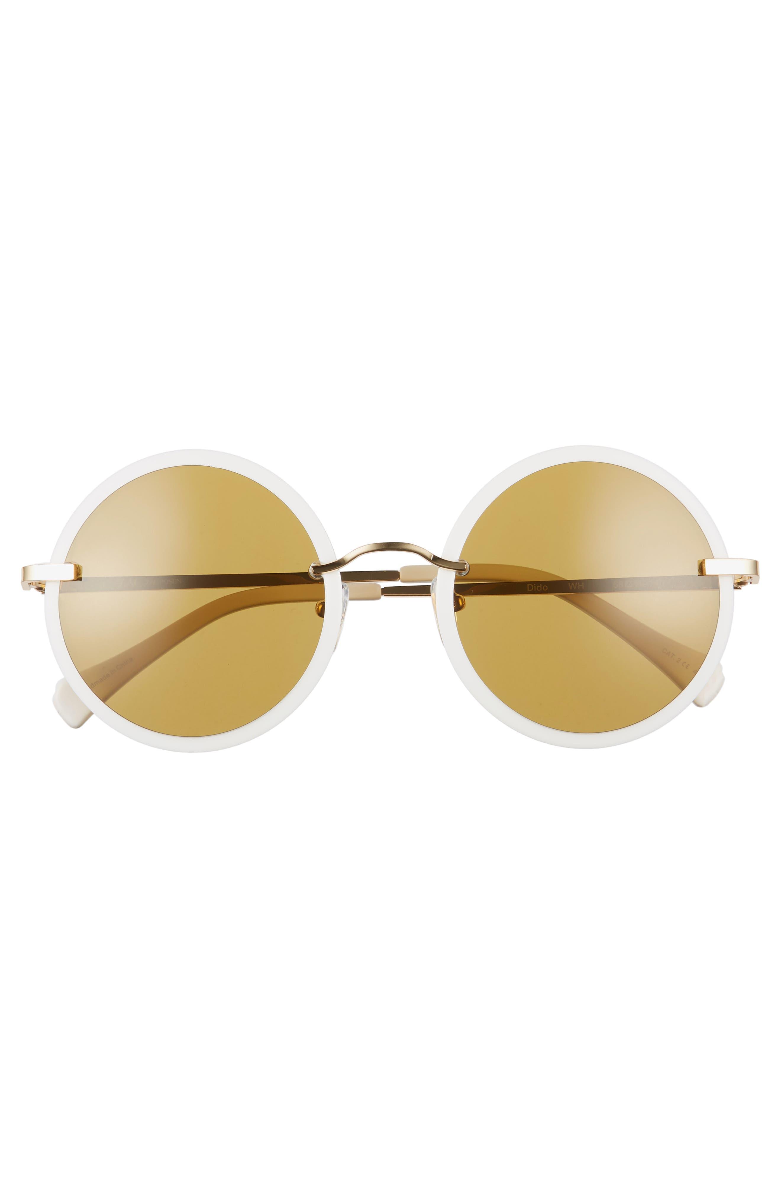 Dido 58mm Sunglasses,                             Alternate thumbnail 3, color,                             White/ Gold