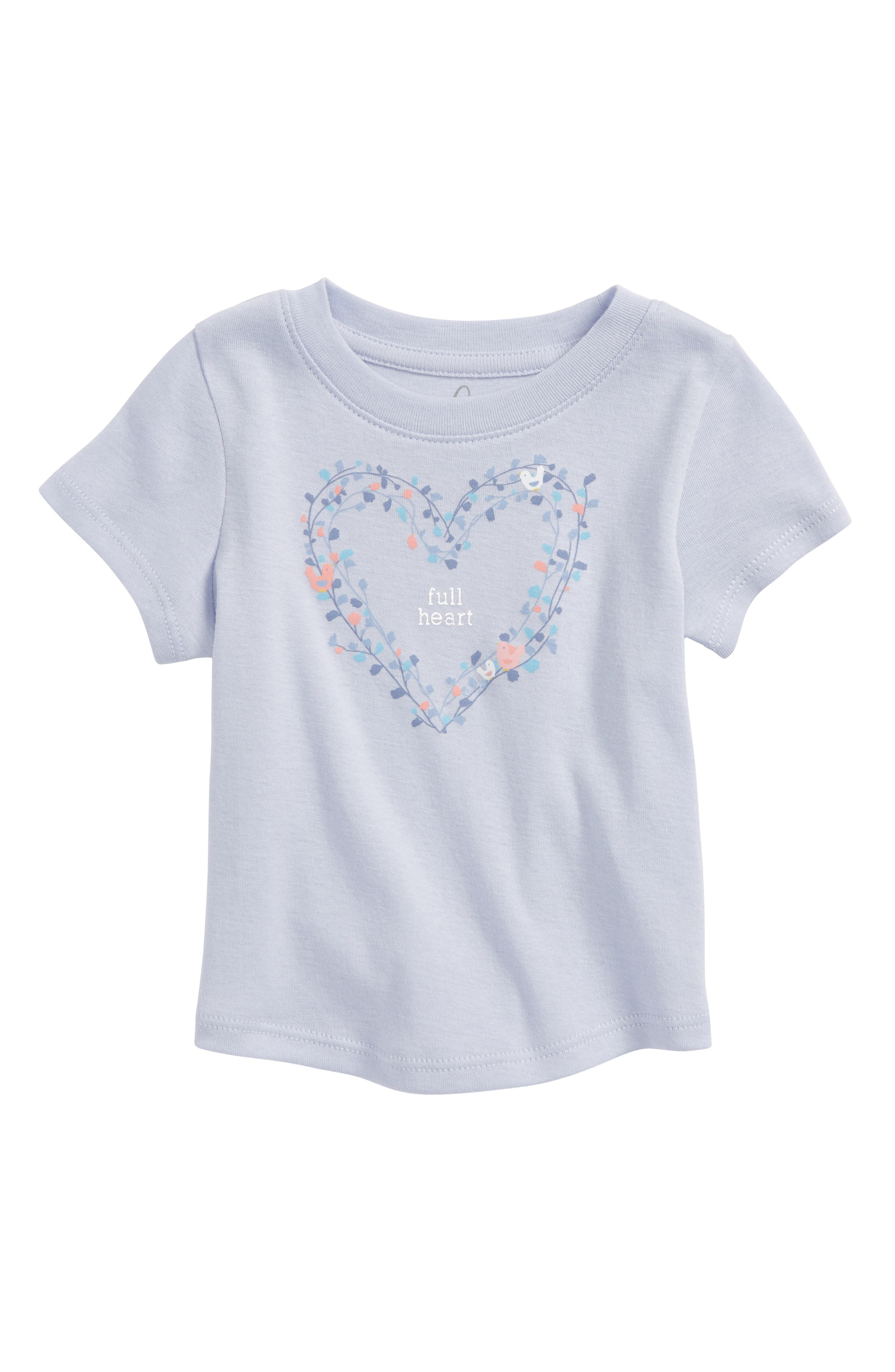 Alternate Image 1 Selected - Peek Full Heart Tee (Baby Girls)