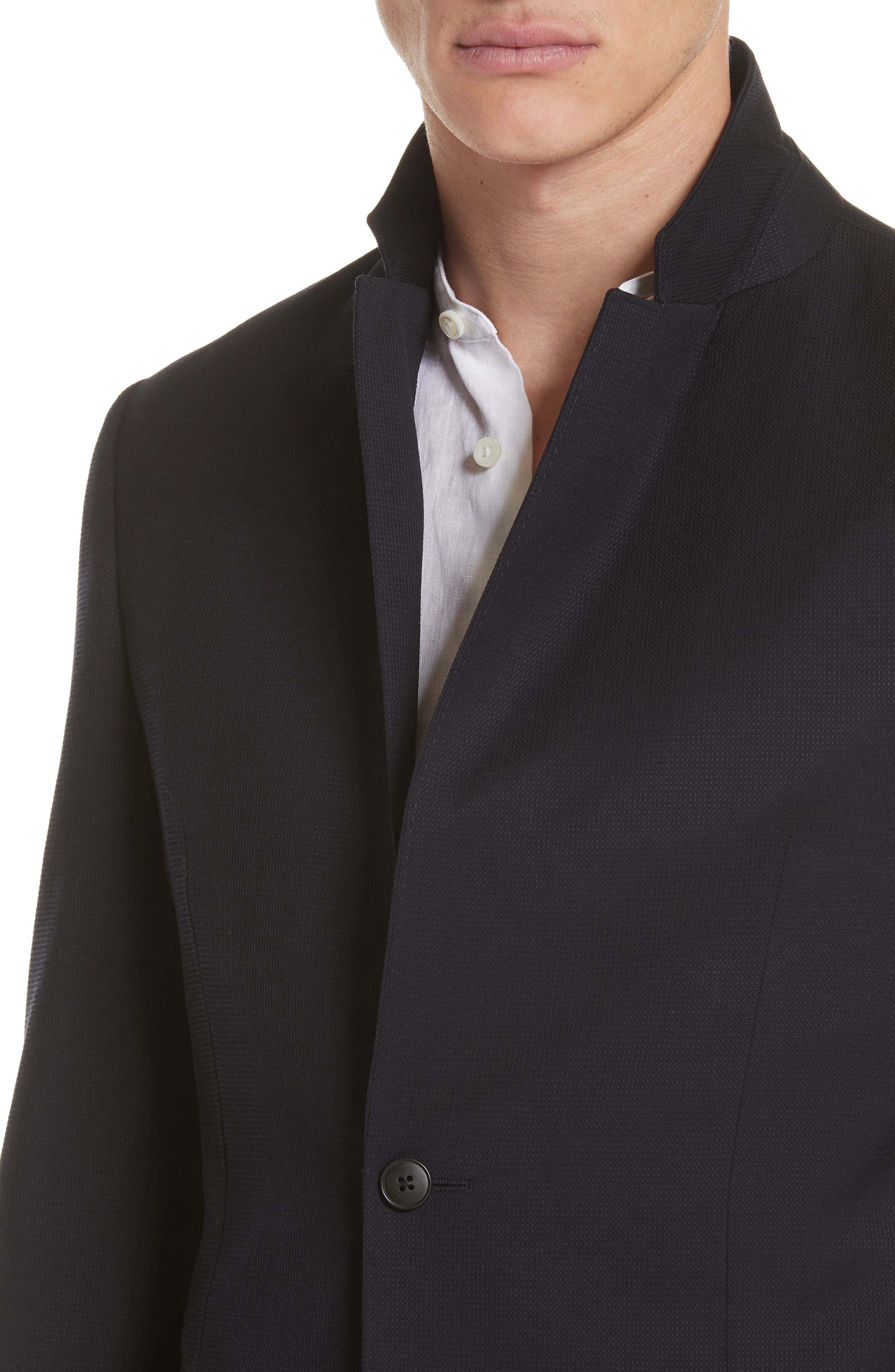 TECHMERINO<sup>™</sup> Wash & Go Classic Fit Wool Blazer,                             Alternate thumbnail 4, color,                             Navy Solid