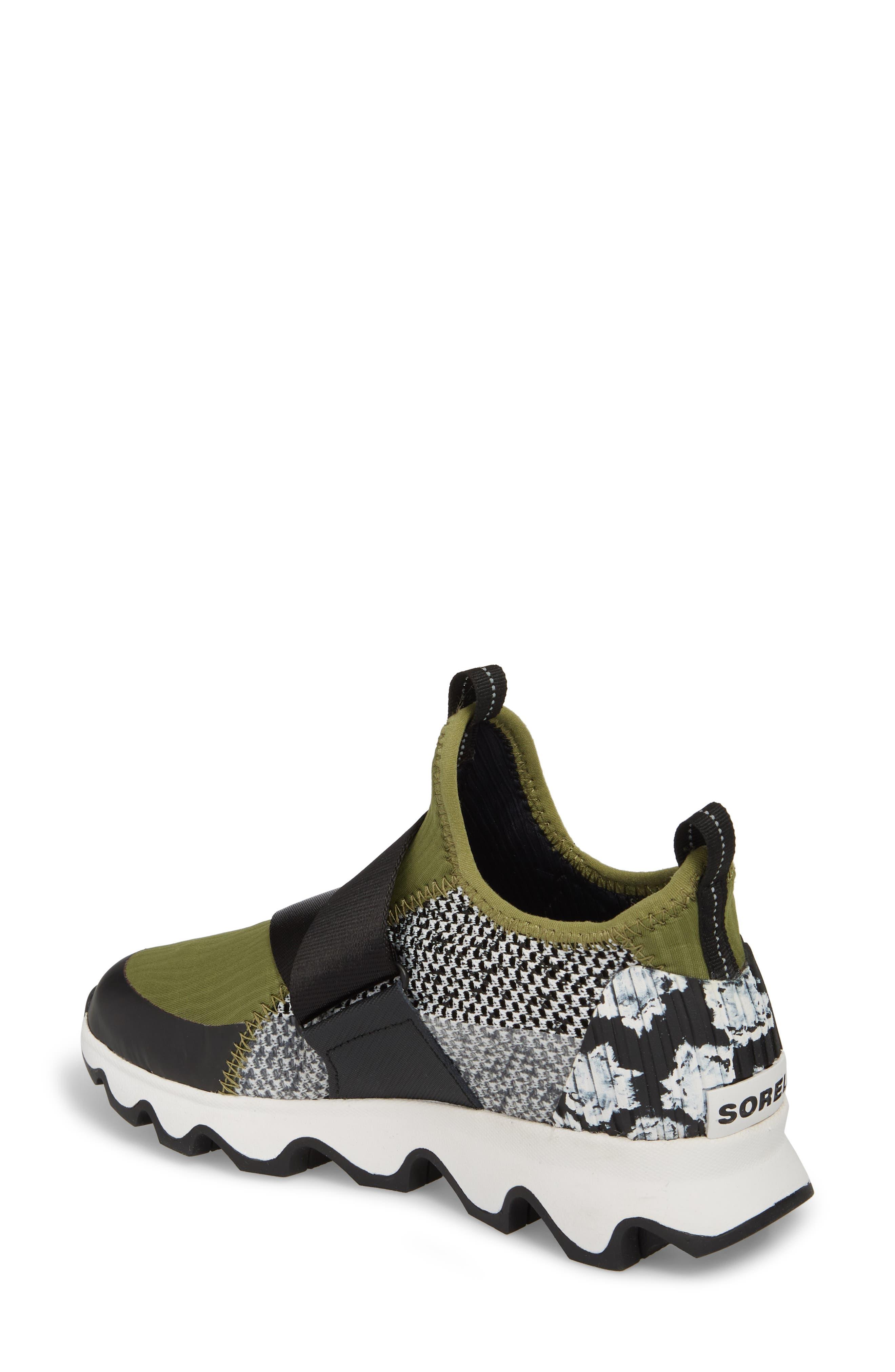 Kinetic Sneak High Top Sneaker,                             Alternate thumbnail 2, color,                             Olive Drab/ White